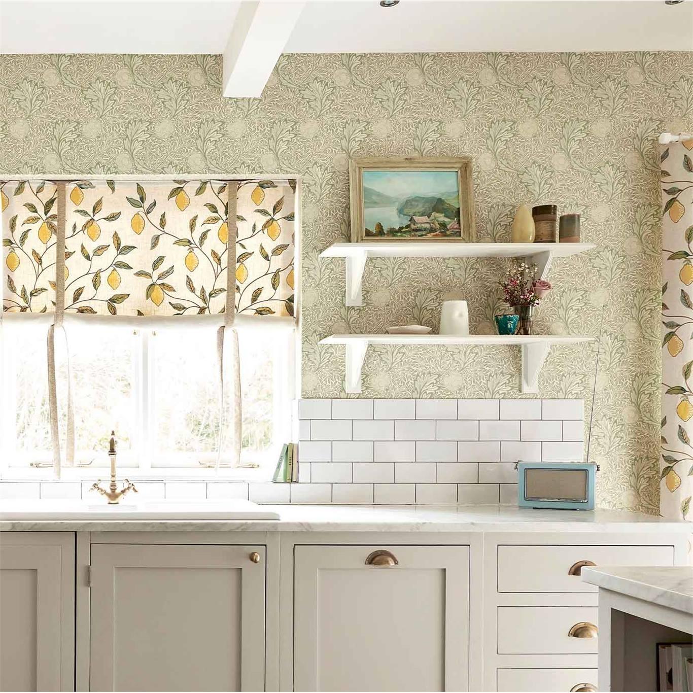 Morris & Co Apple Honey Gold Wallpaper 216691