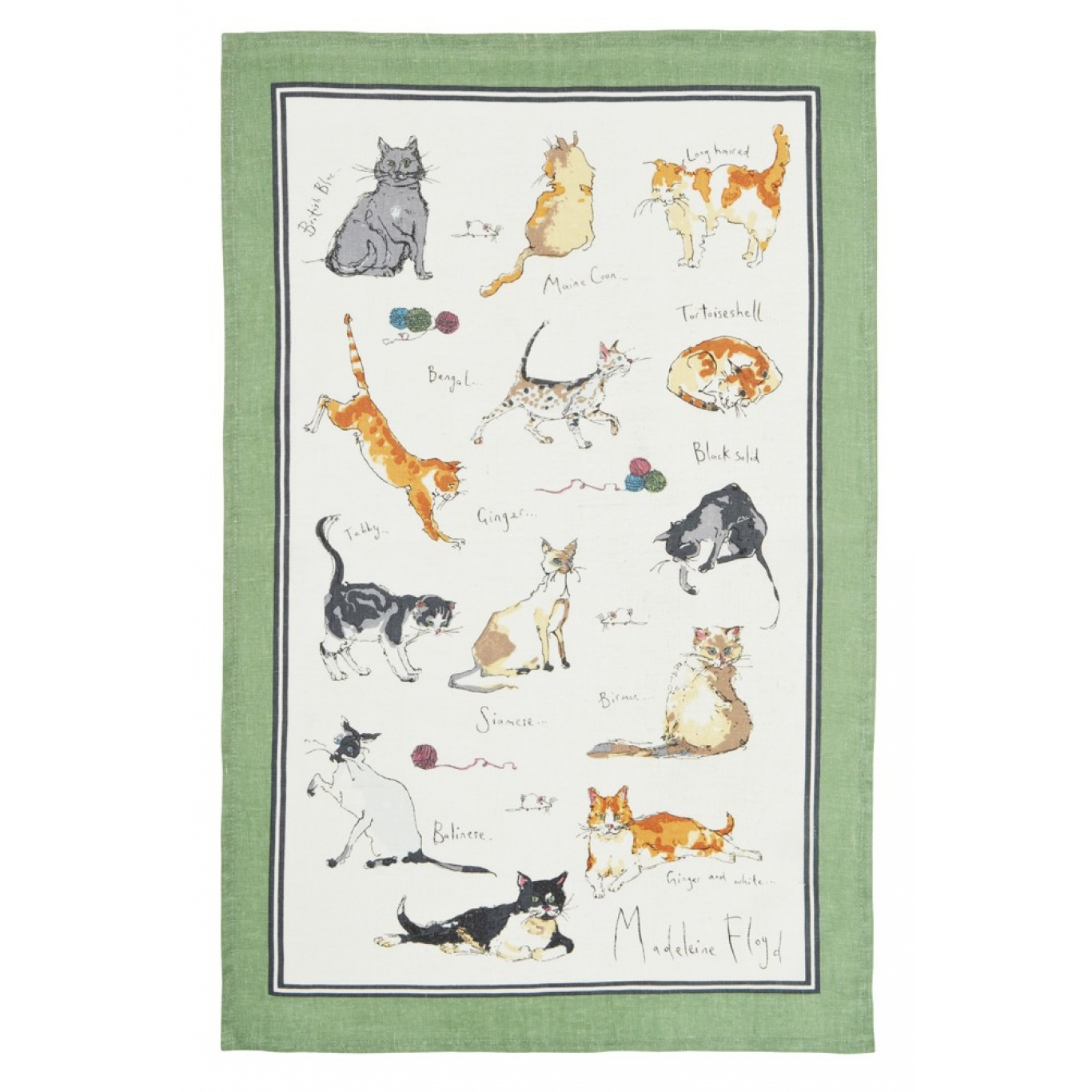 Image of Ulster Weavers Cats Tea Towel