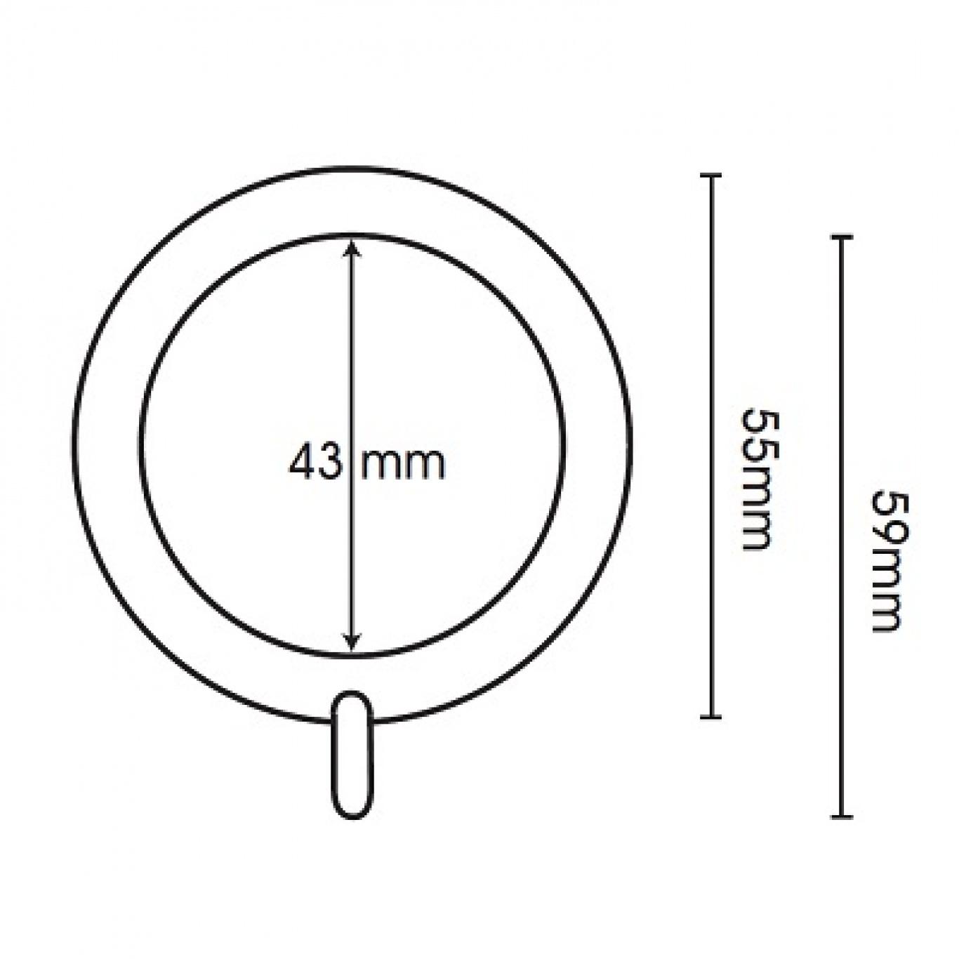 Swish Belgravia 28mm Graphite Metal Pole