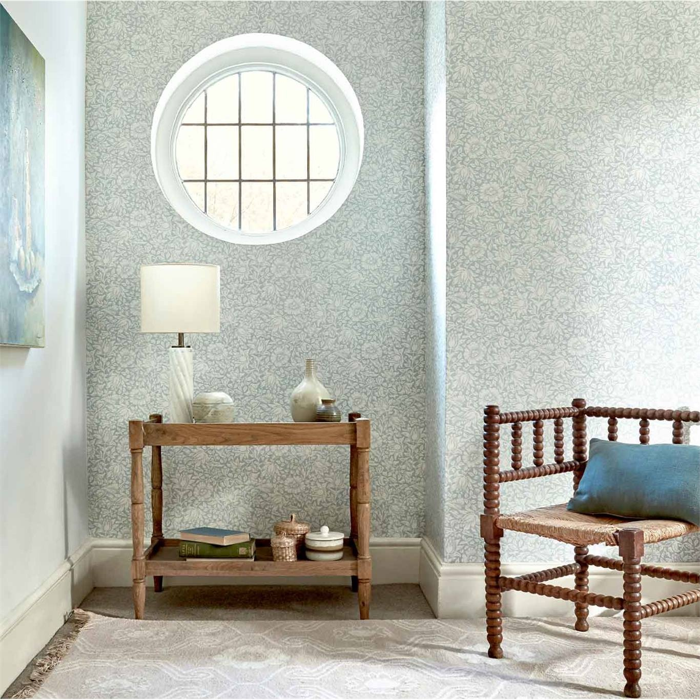 Morris & Co Mallow Dusky Rose Wallpaper 216675