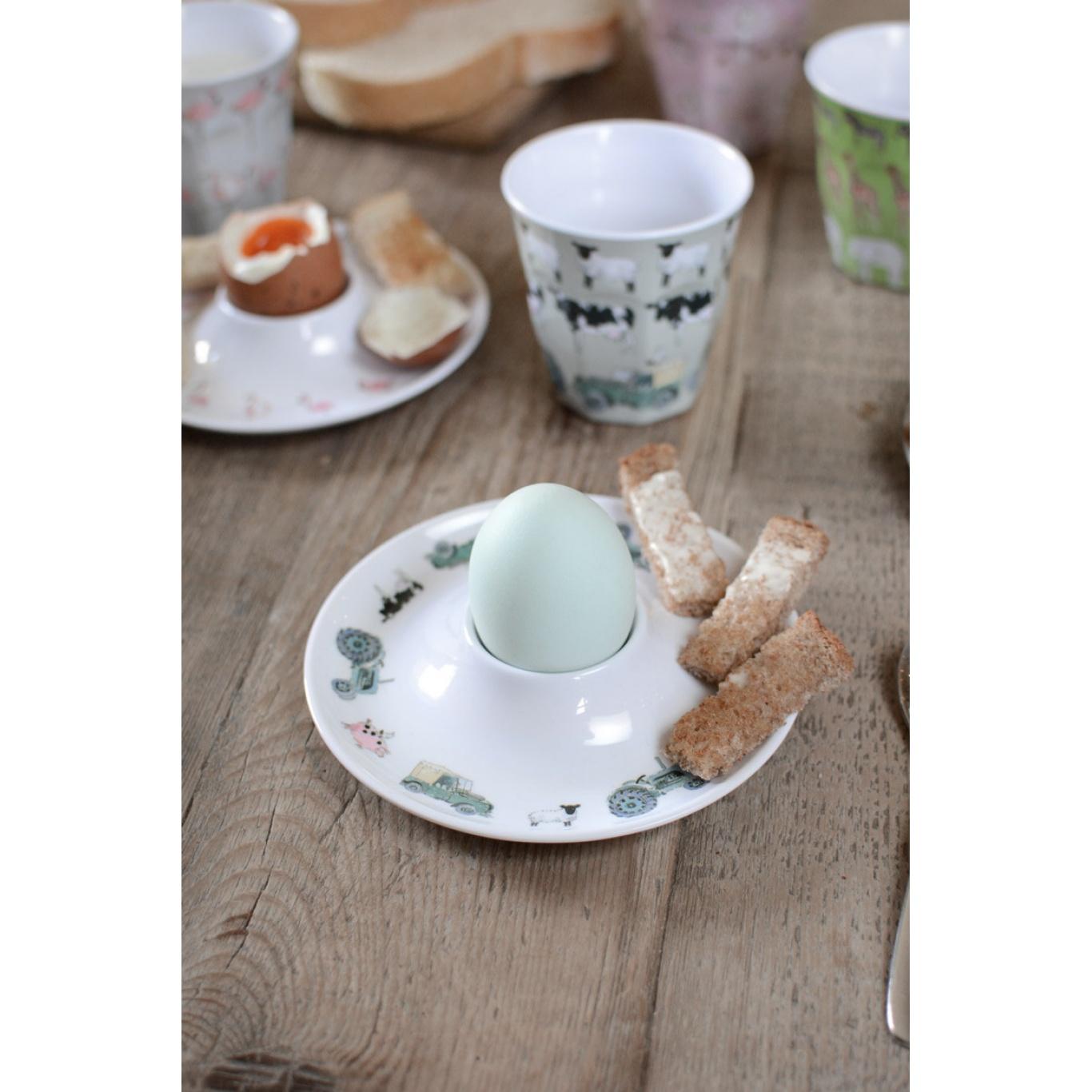 Sophie Allport On The Farm Kid's Melamine Egg Cup Saucer