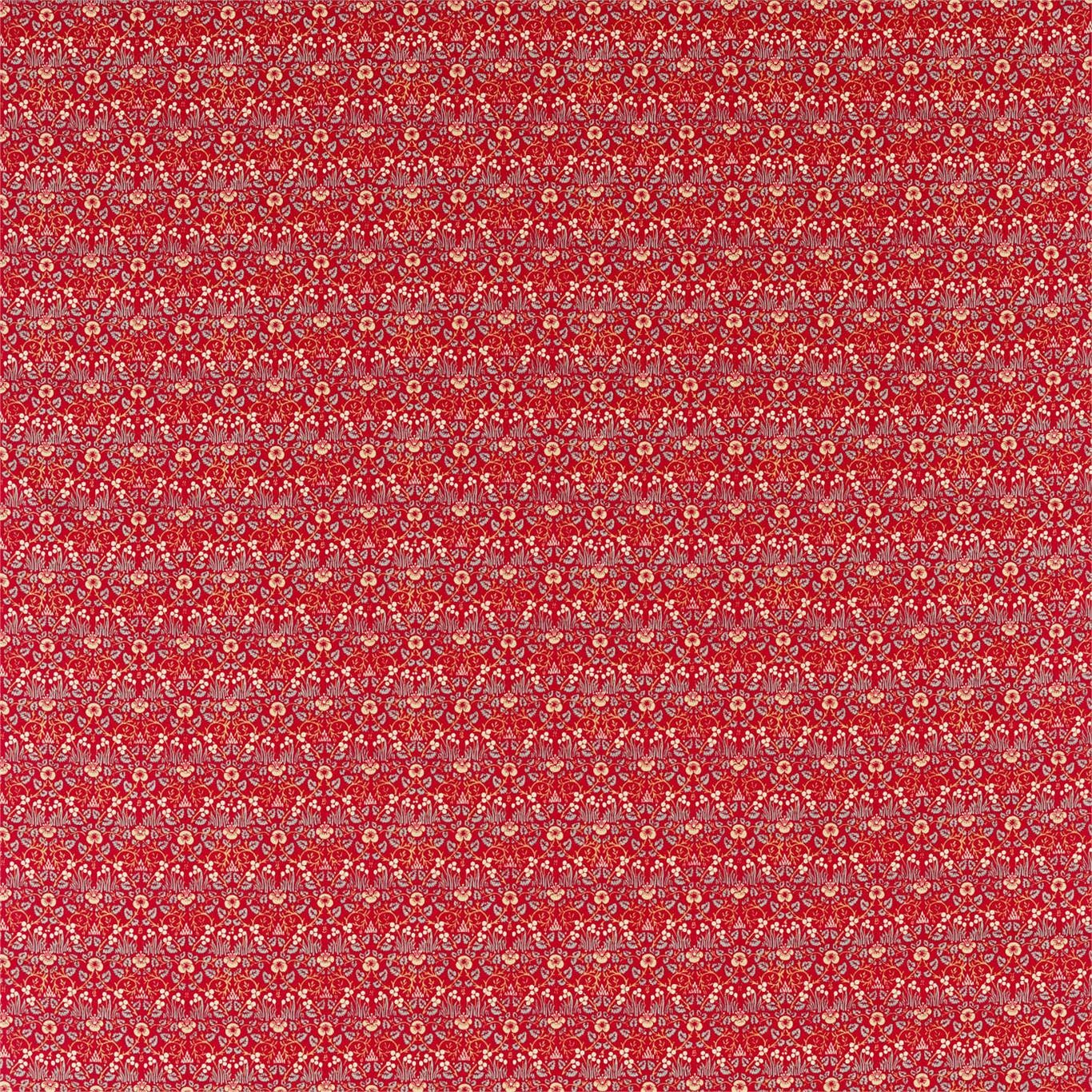 Image of Morris & Co Eye Bright Red Fabric 226599