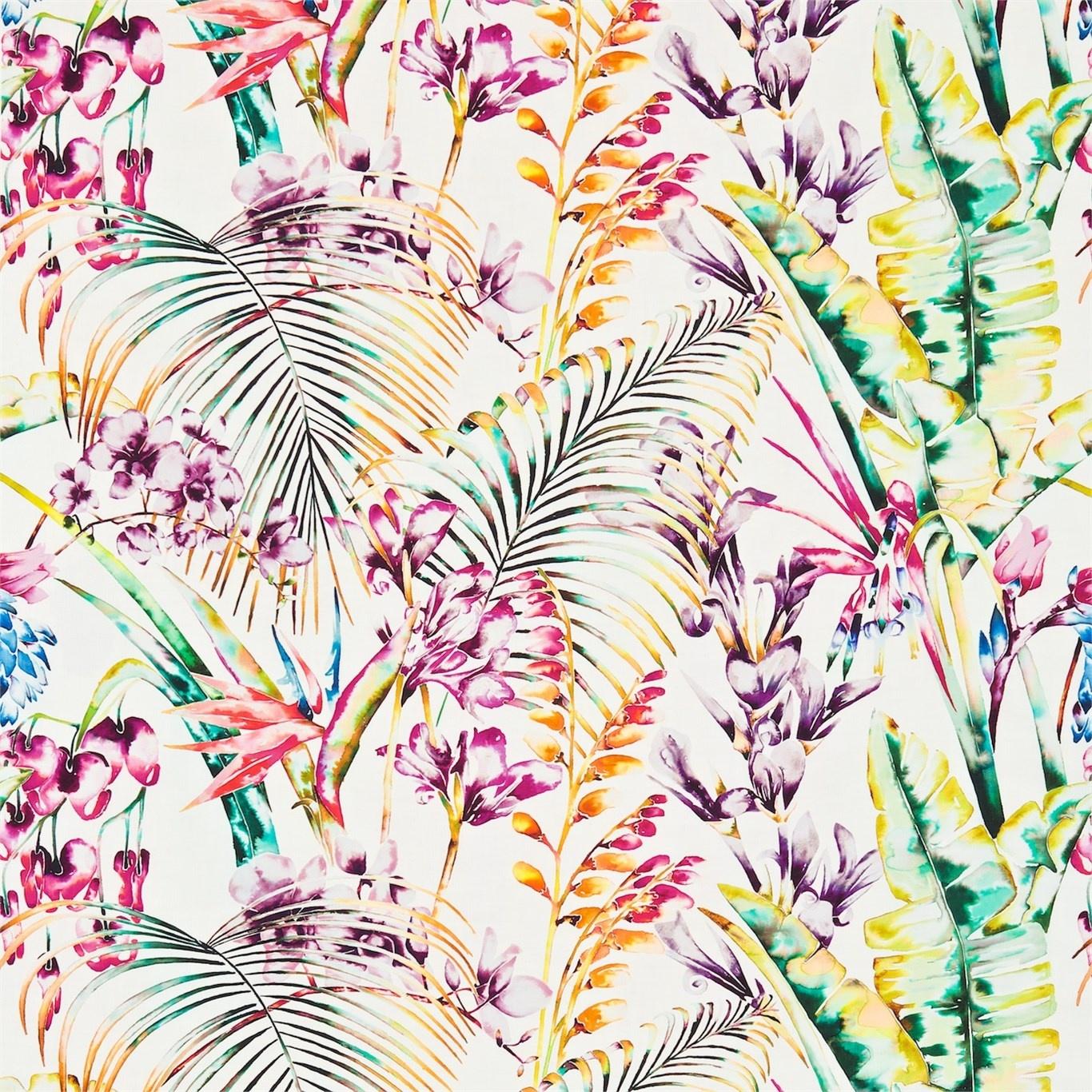 Image of Harlequin Paradise Papaya/Flamingo/Apple Curtain Fabric 120351