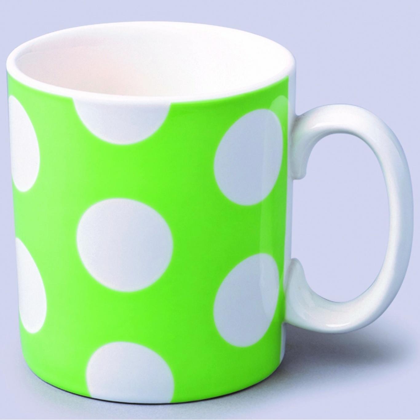 Image of 1 Pint Extra Large Mug Green Spot