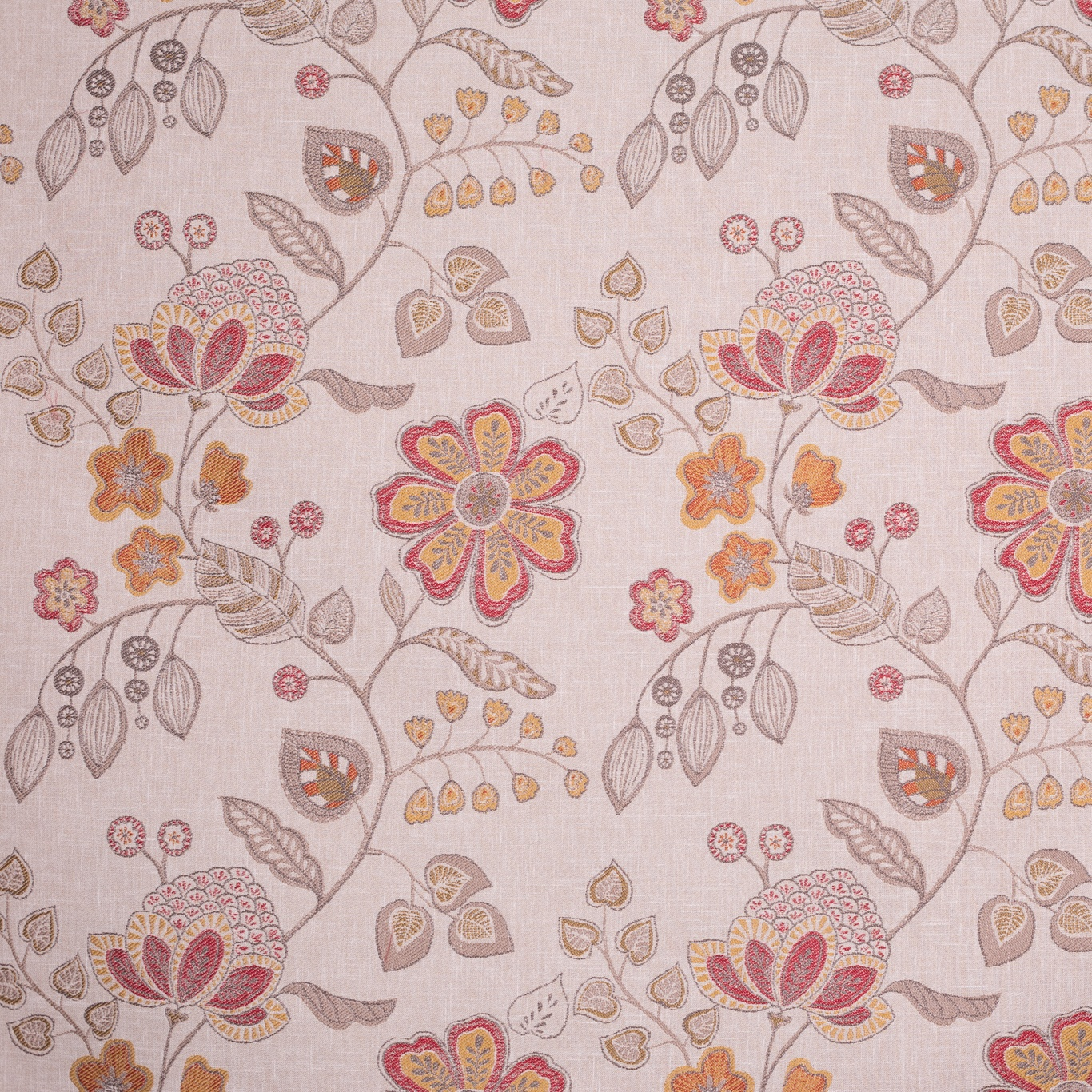 Image of Voyage Hartwell Terracotta Curtain Fabric