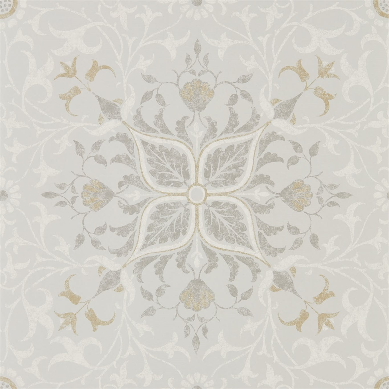 Image of Morris & Co Pure Net Ceiling Stone/Chalk Wallpaper 216037
