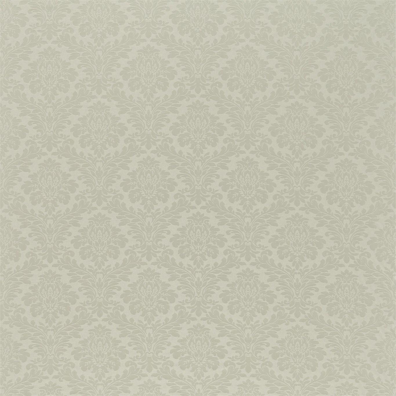 Image of Sanderson Lymington Damask Silver Fabric 232604