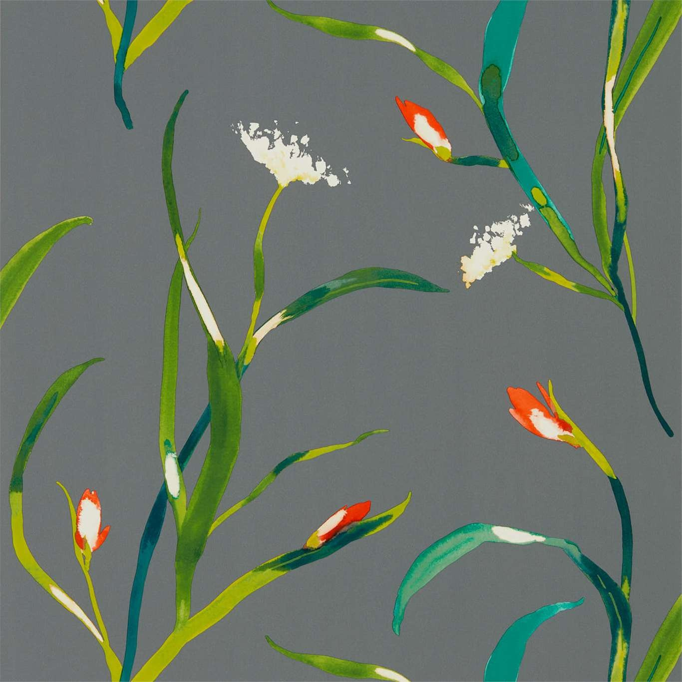Image of Harlequin Saona Kiwi/Charcoal Wallpaper 111758