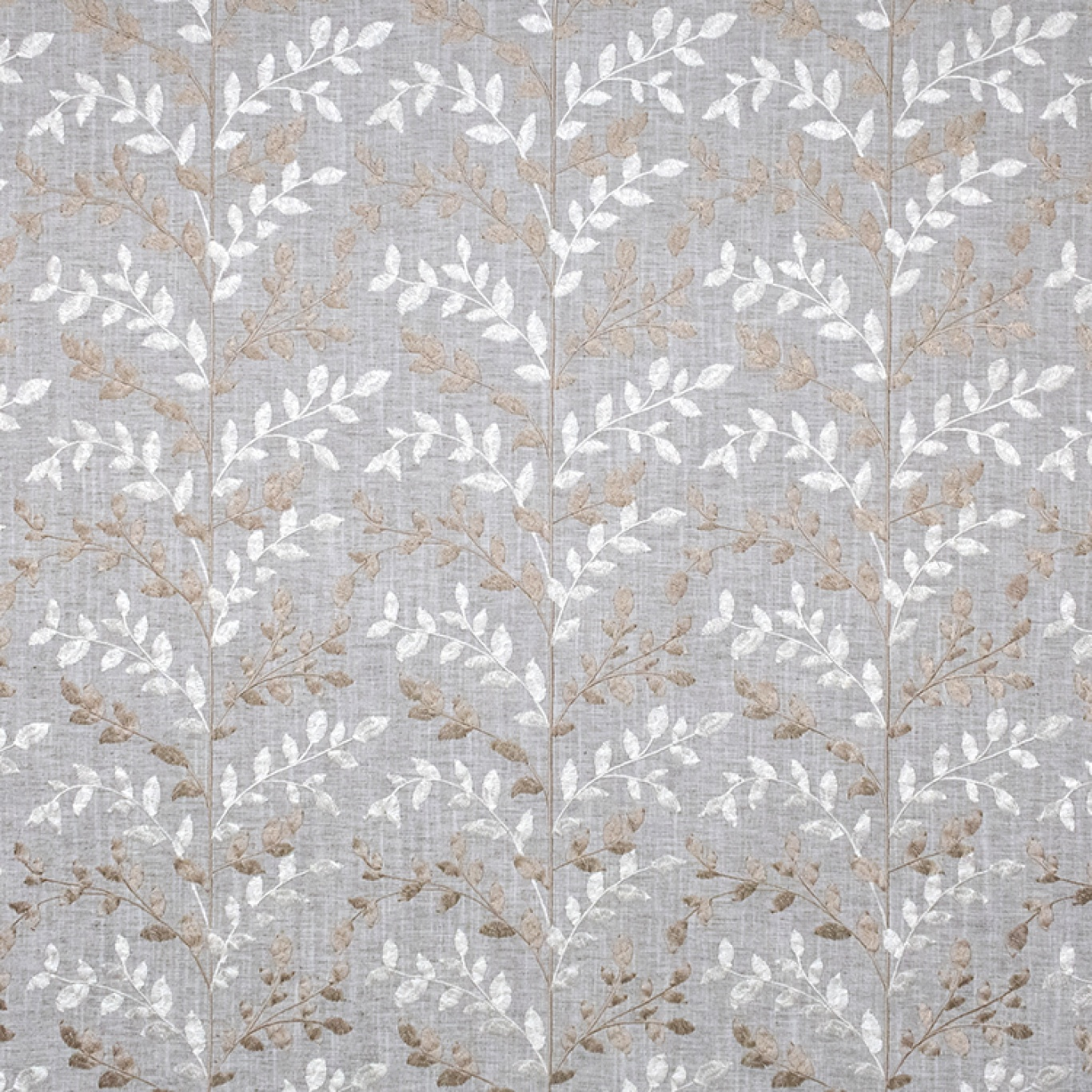 Image of Fibre Naturelle Zoe Thunder / Pearl Curtain Fabric ZOE/03