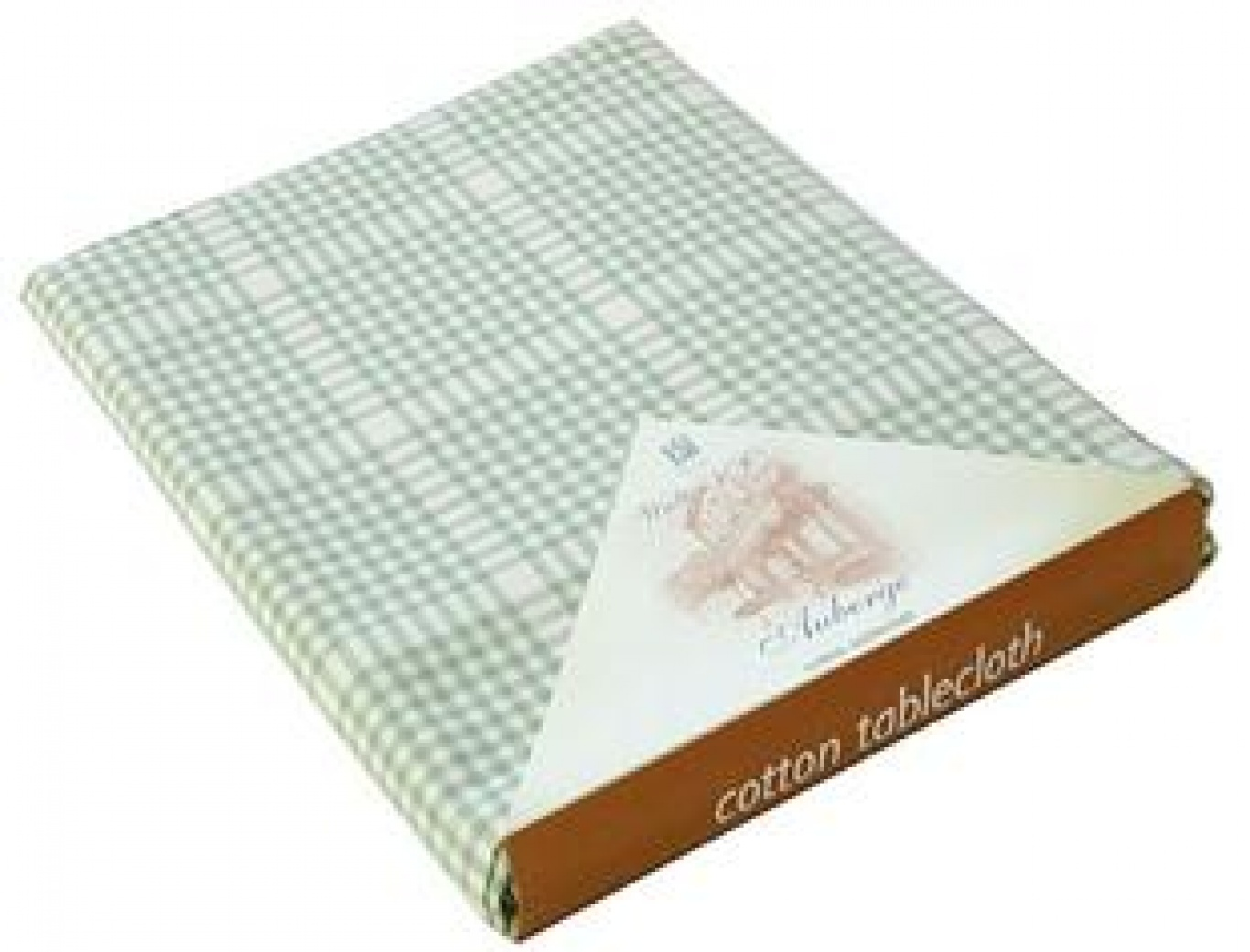 Image of Auberge Duck Egg Green Check Tablecloth