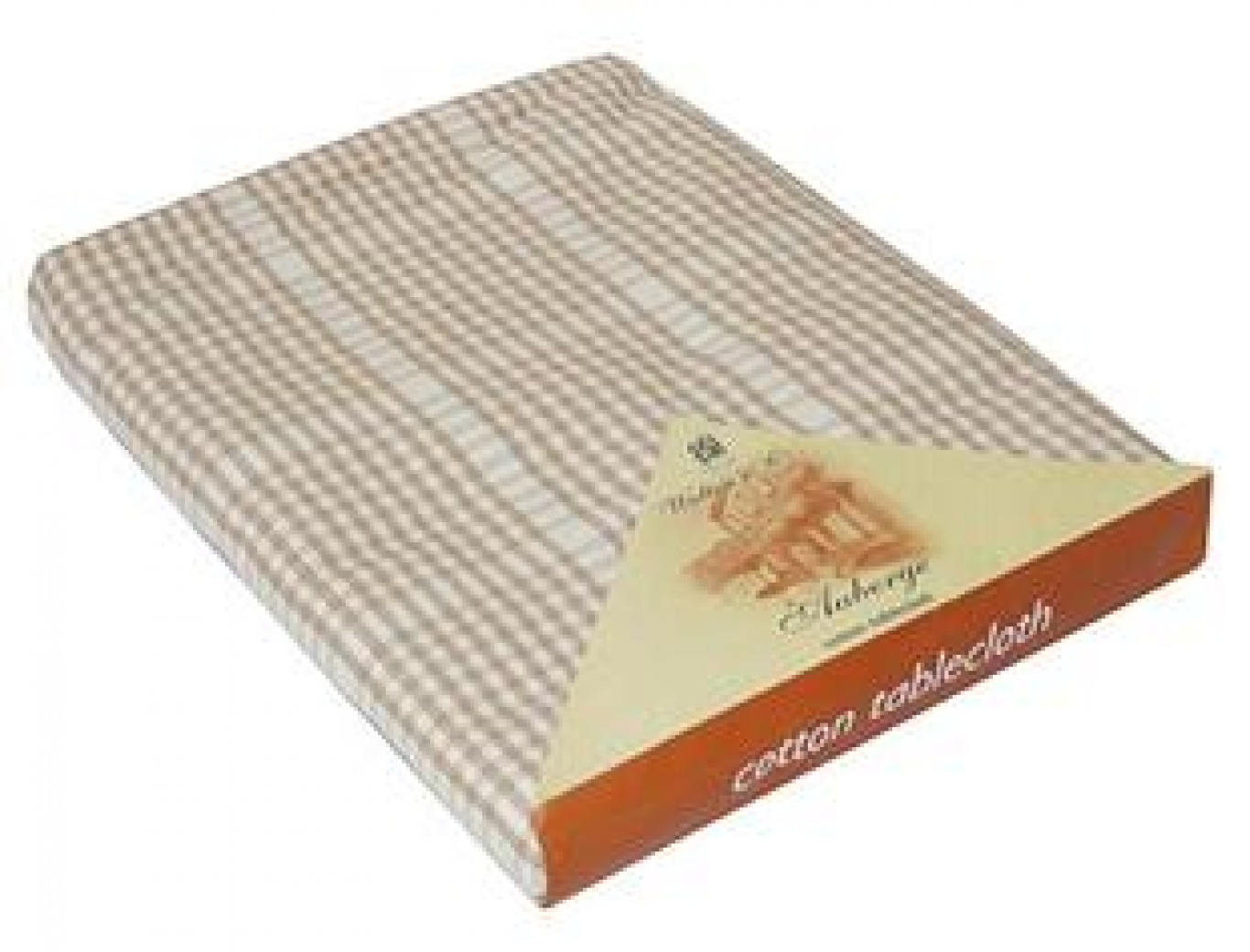 Image of Auberge Biscuit Check Tablecloth