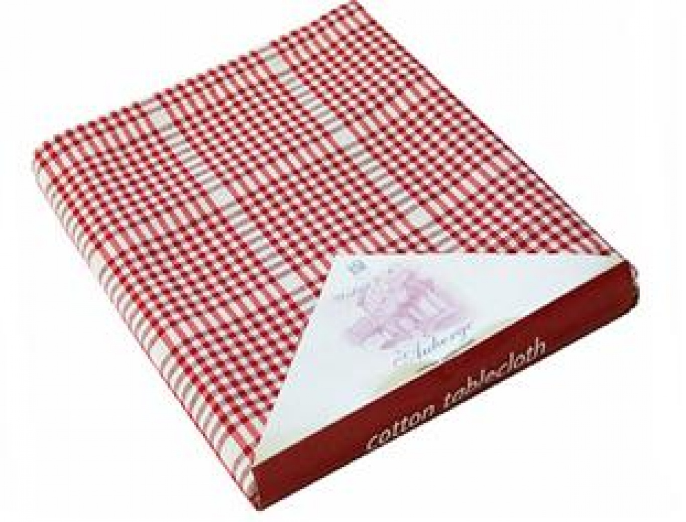 Image of Auberge Red Check Tablecloth