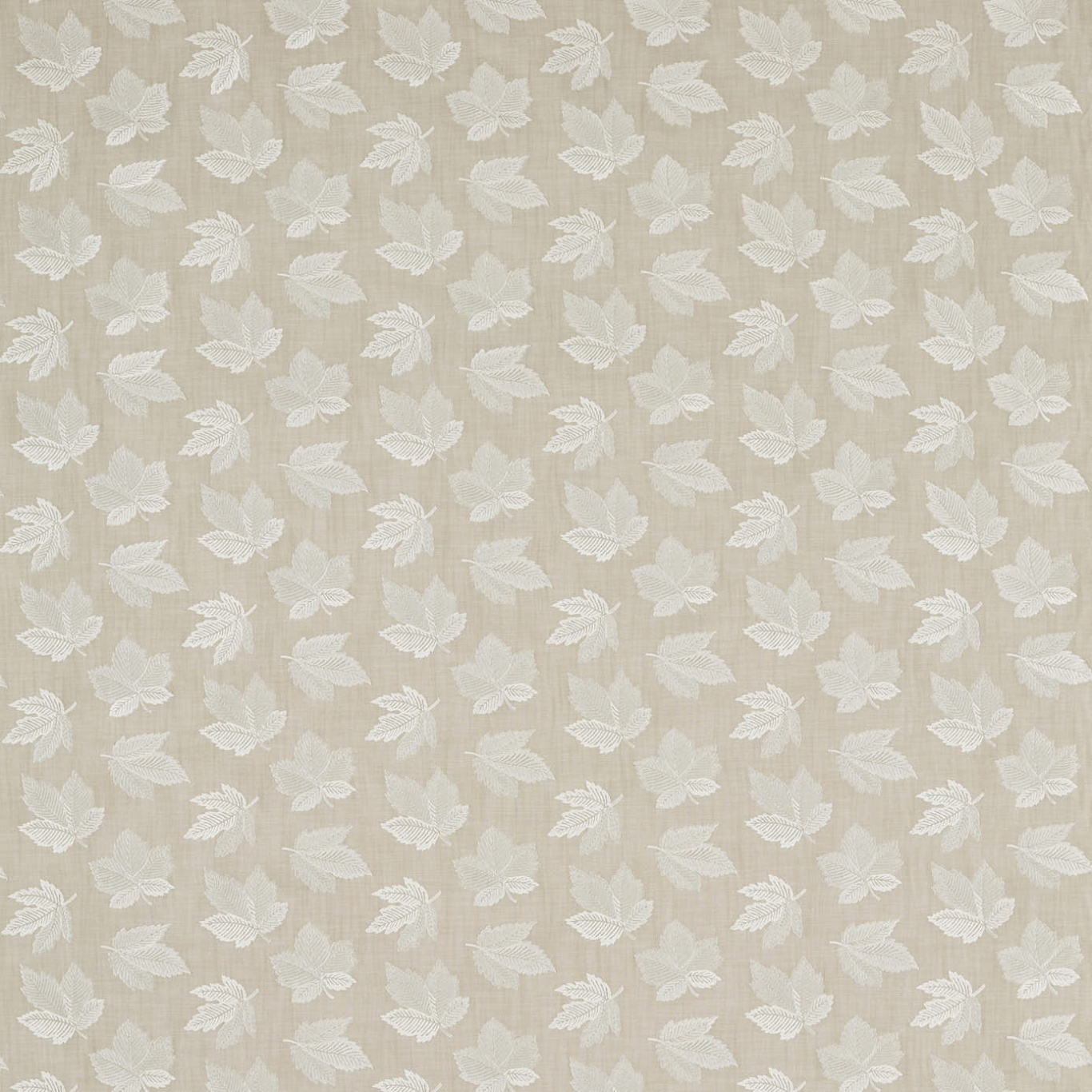 Image of Sanderson Flannery Briarwood/Cream Curtain Fabric 236727