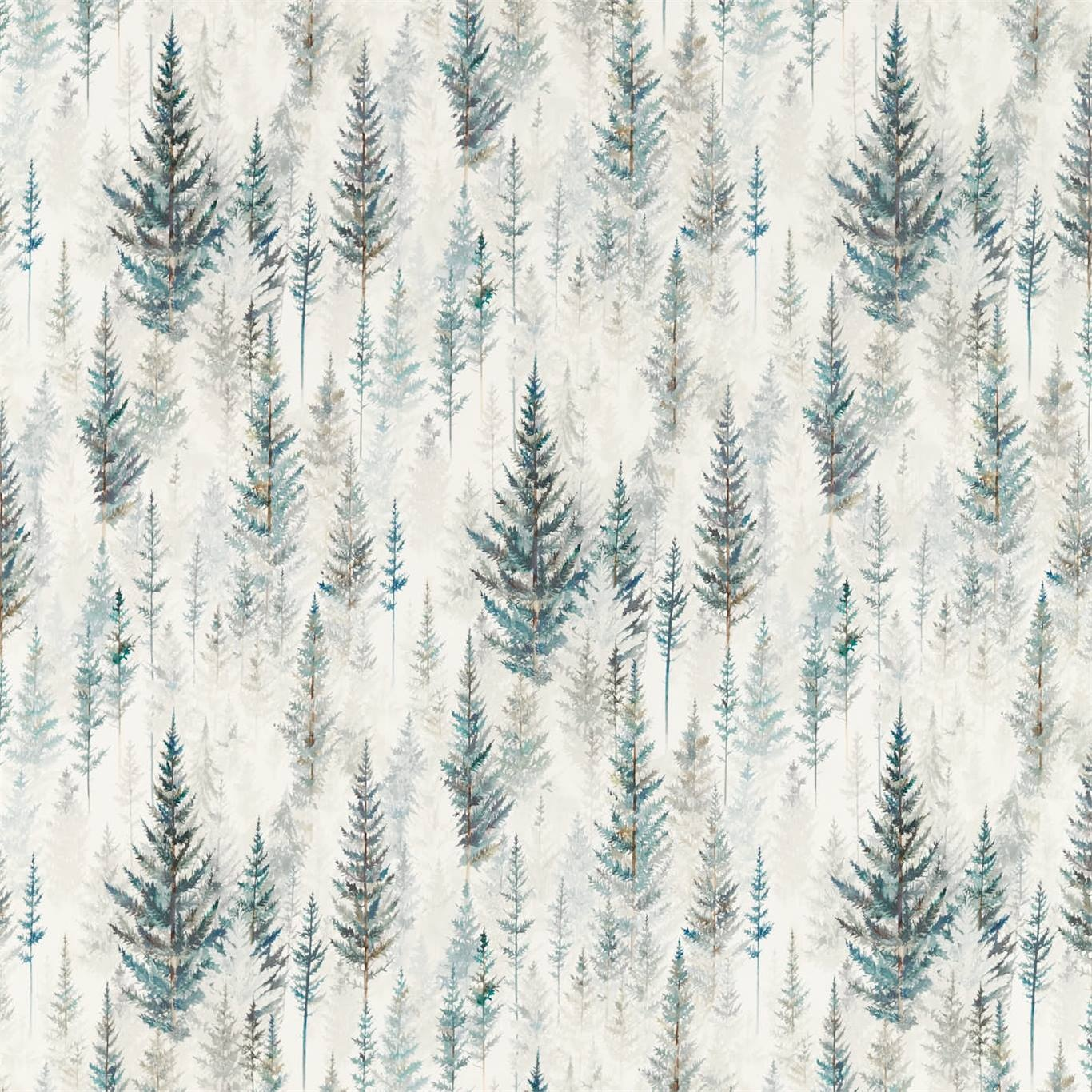 Image of Sanderson Juniper Pine Forest Curtain Fabric 226534