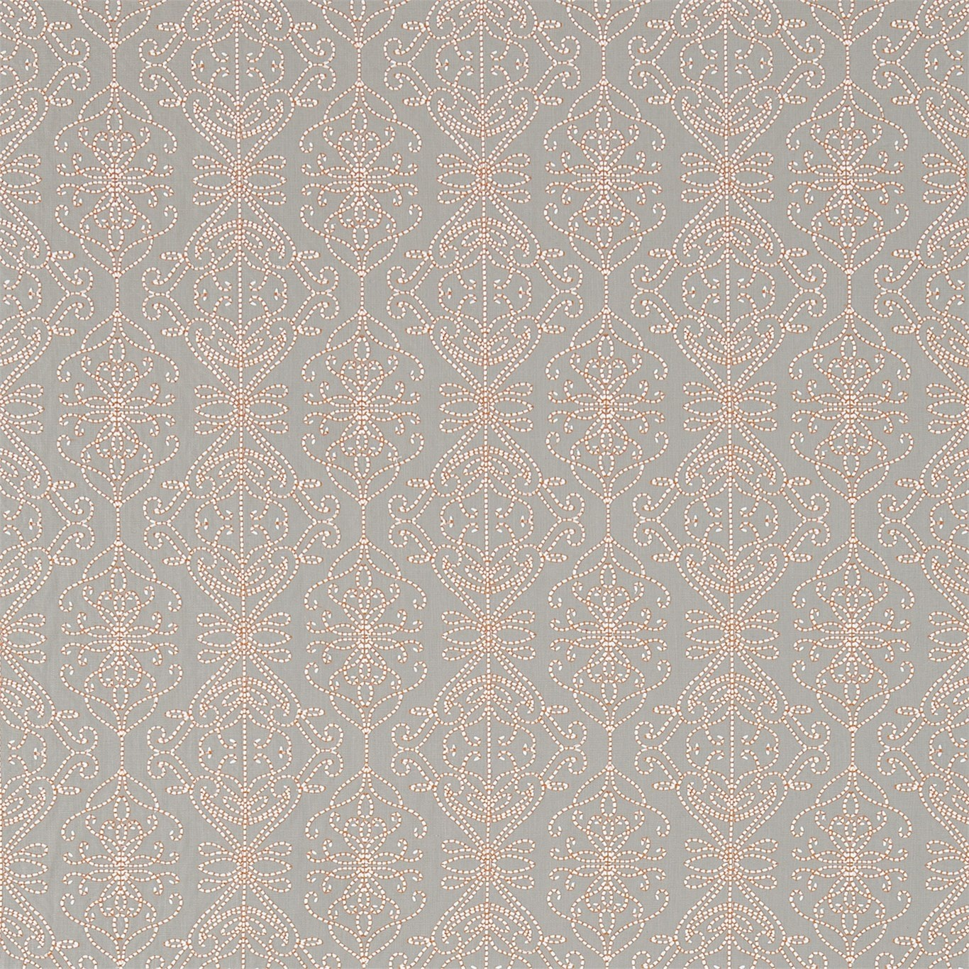 Image of Harlequin Java Stone/Papaya Curtain Fabric 131516