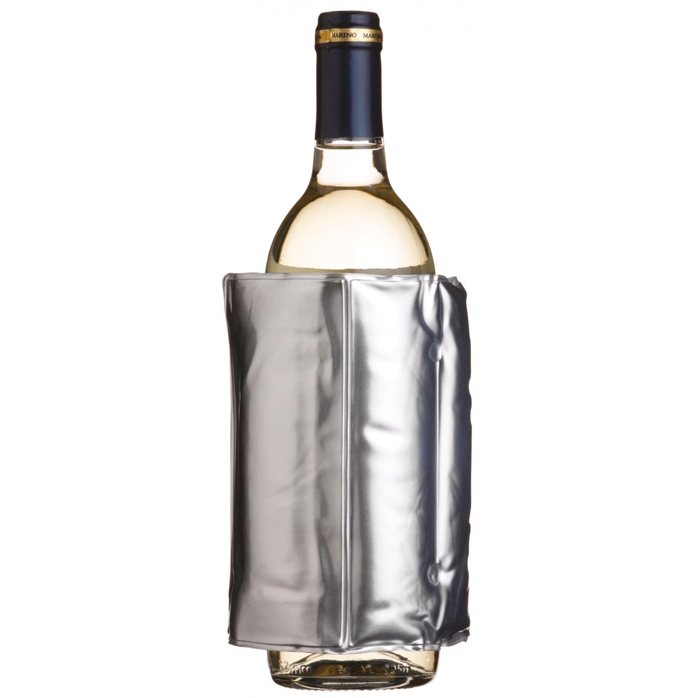 Image of Bar Craft Wrap Around Silver Wine Cooler