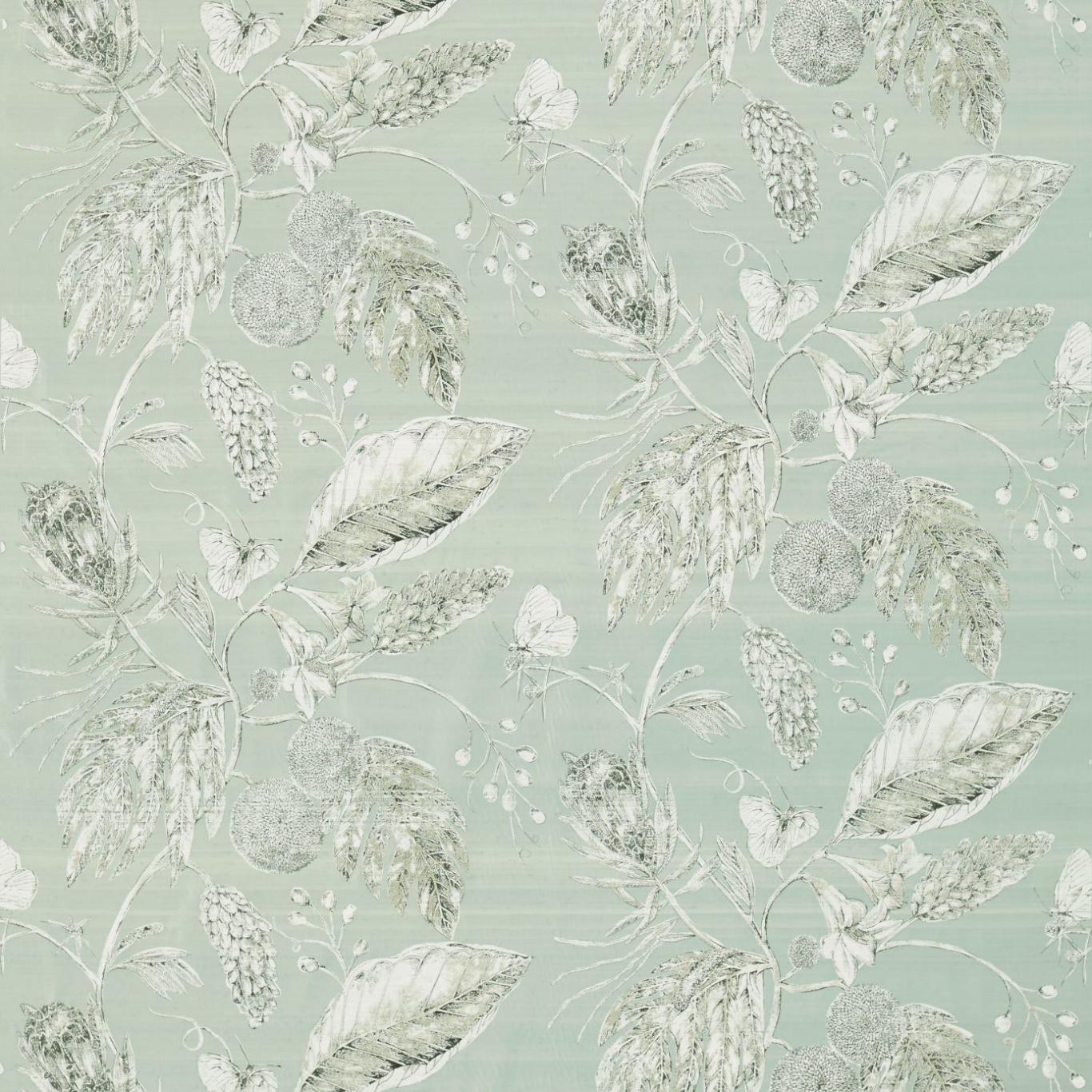 Image of Harlequin Amborella Silk Seaglass Curtain Fabric 120419
