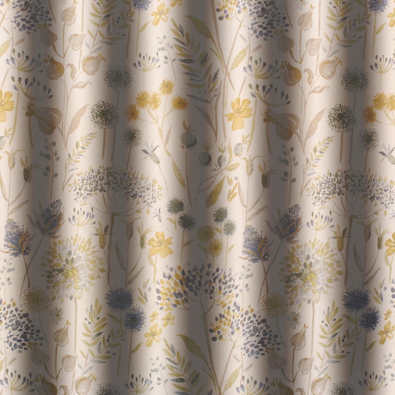 Voyage Flora Cream Duck Egg Curtain Fabric