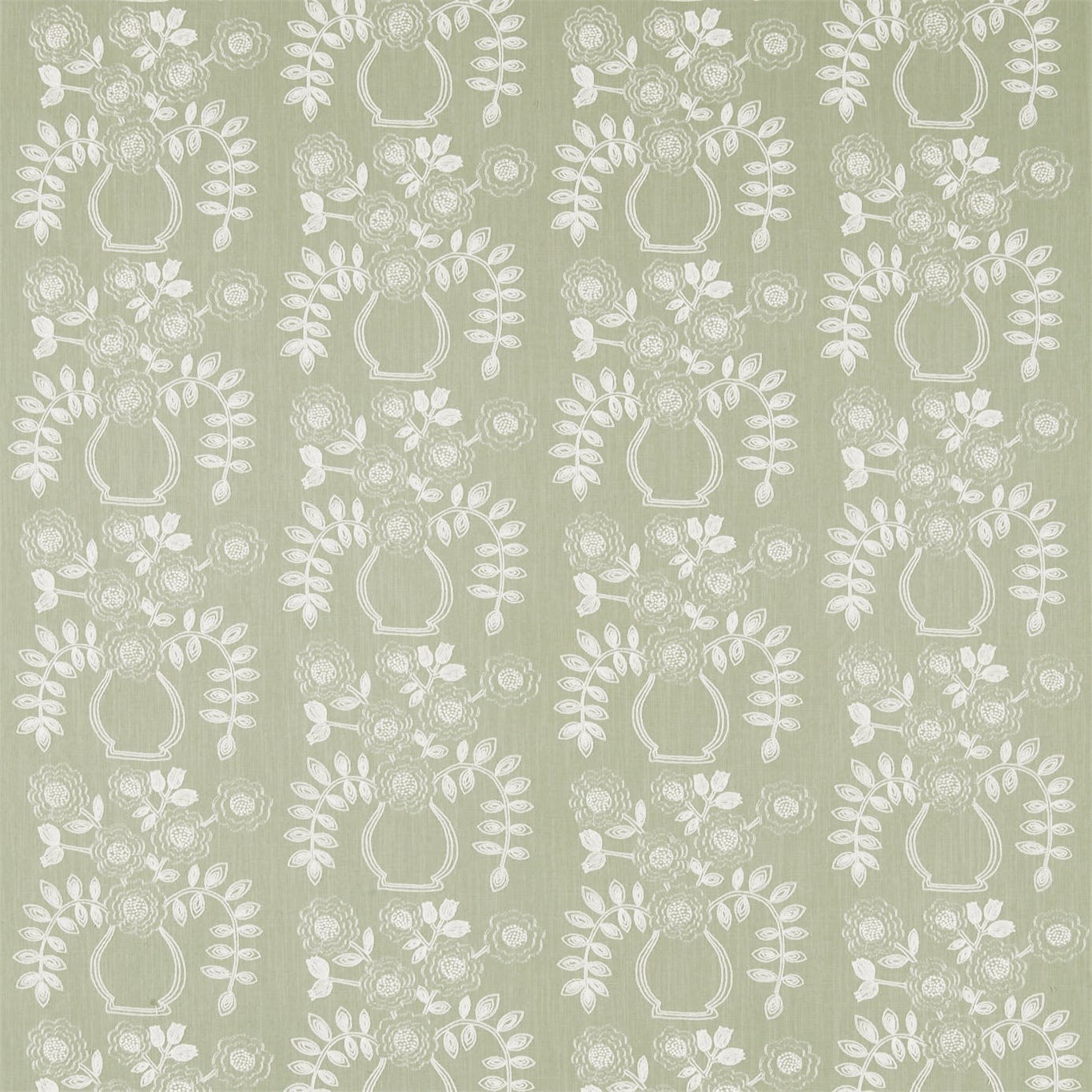 Image of Sanderson Home Flower Pot Fennel Curtain Fabric 235880