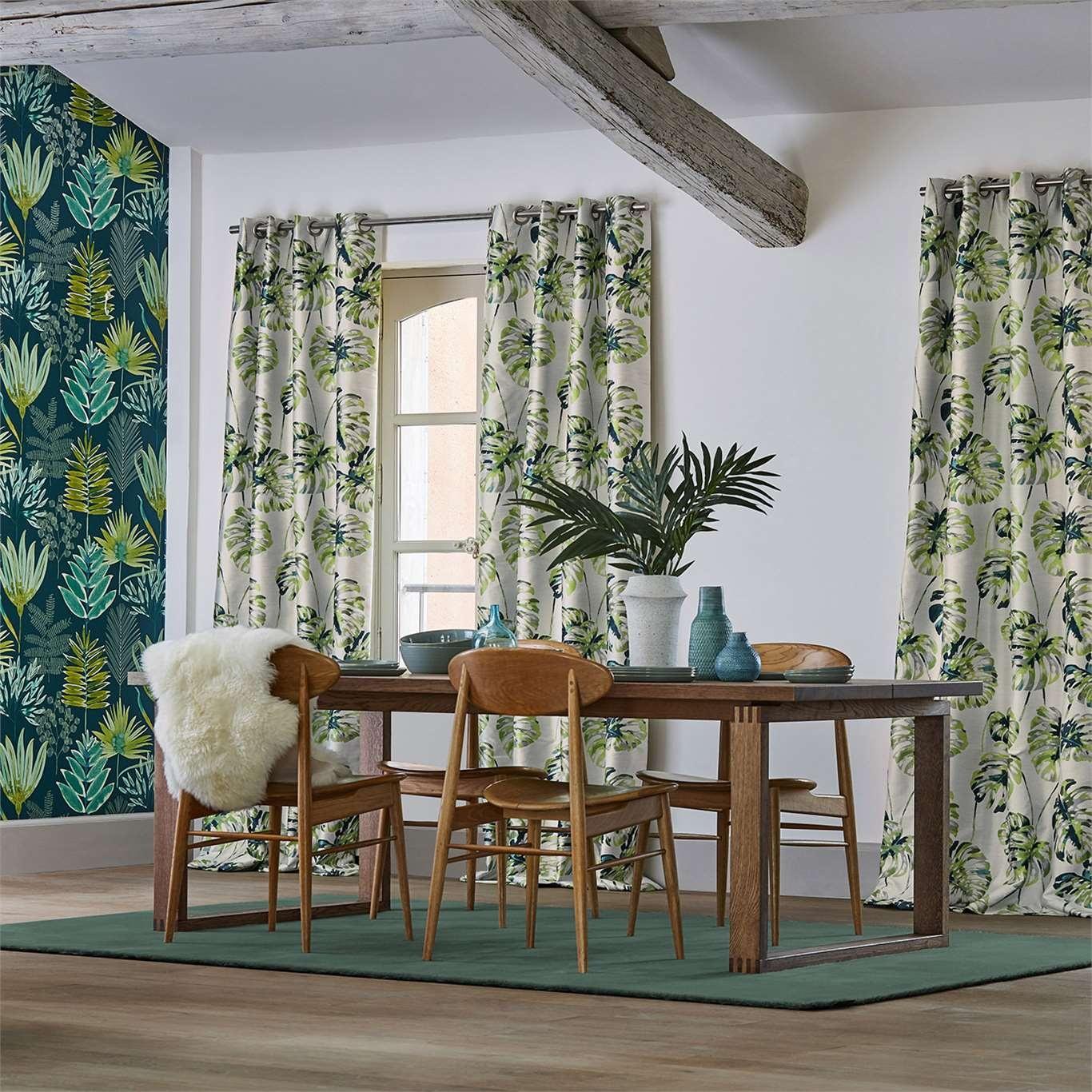 Harlequin Kelapa Emerald/Zest Curtain Fabric 132647