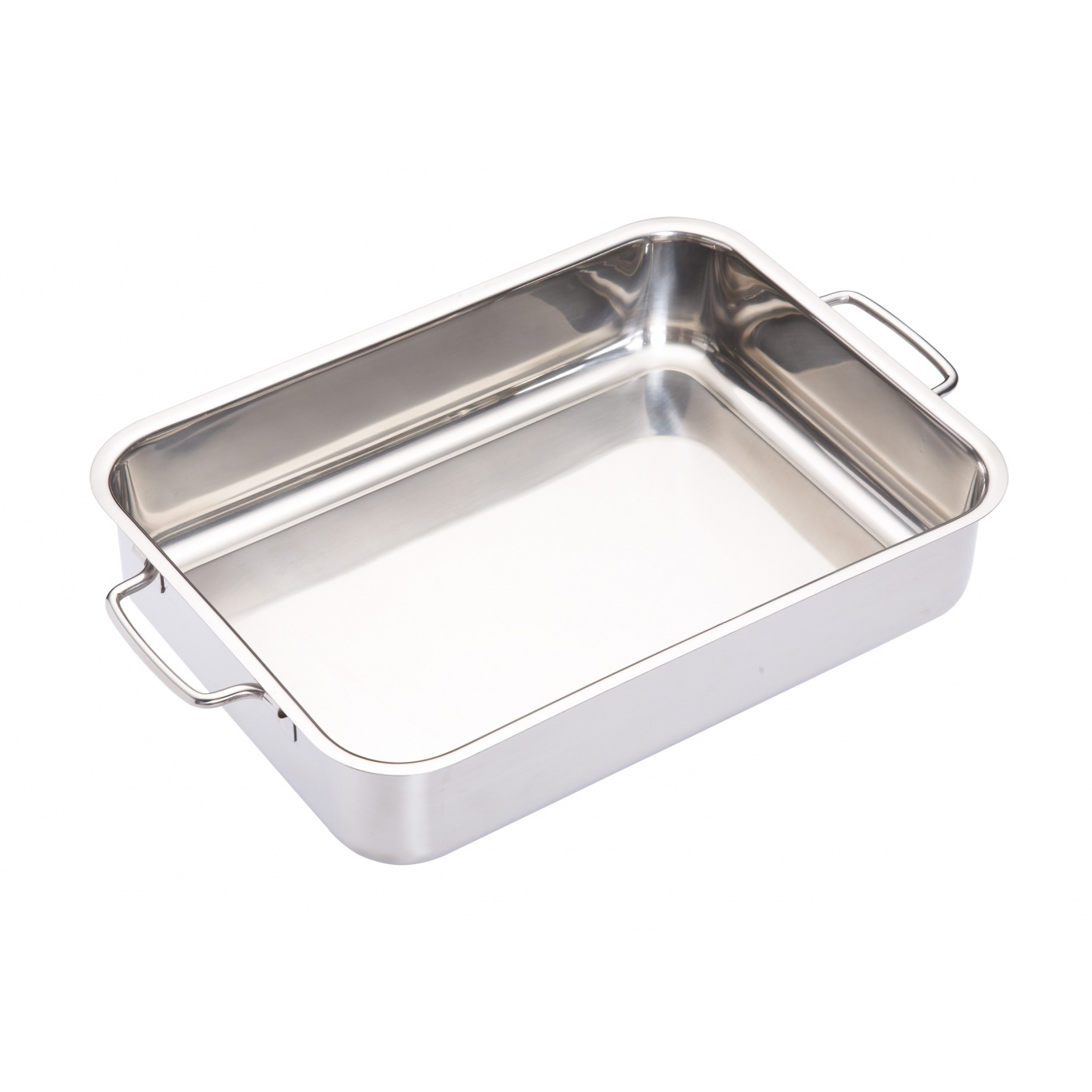 Image of Stainless Steel Heavy Duty Roasting Pan 32cm x 23cm x 6.5cm