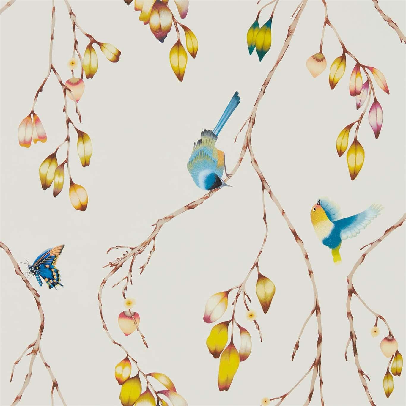 Image of Harlequin Iyanu Papaya/Kiwi Wallpaper 111770