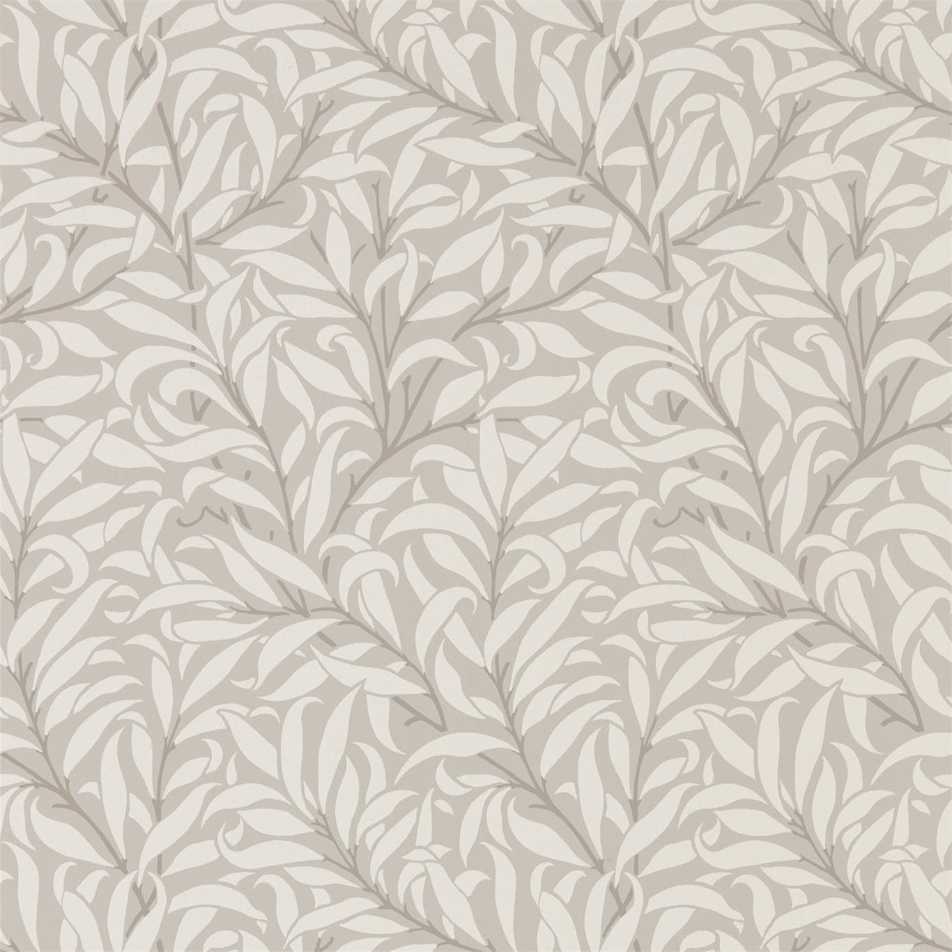 Morris Co Pure Willow Bough Dove Ivory Wallpaper 216025
