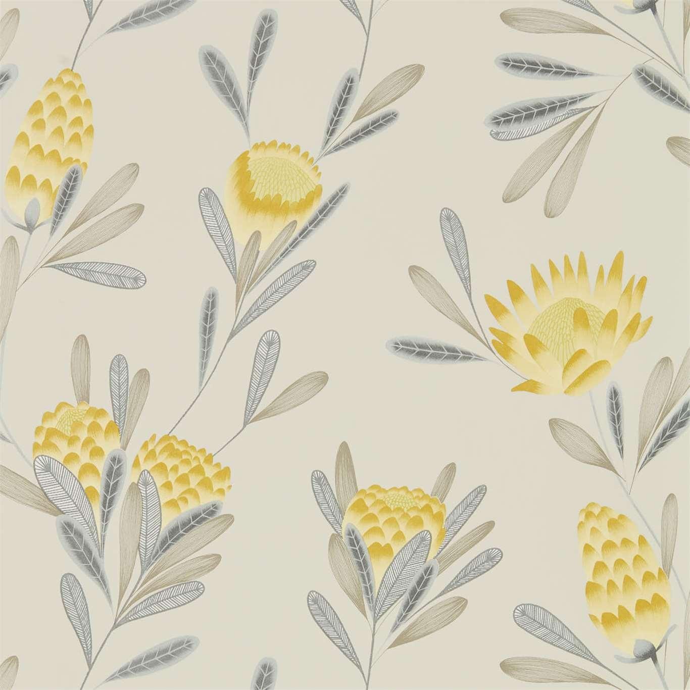 Image of Harlequin Cayo Ochre/Linen Wallpaper 111774