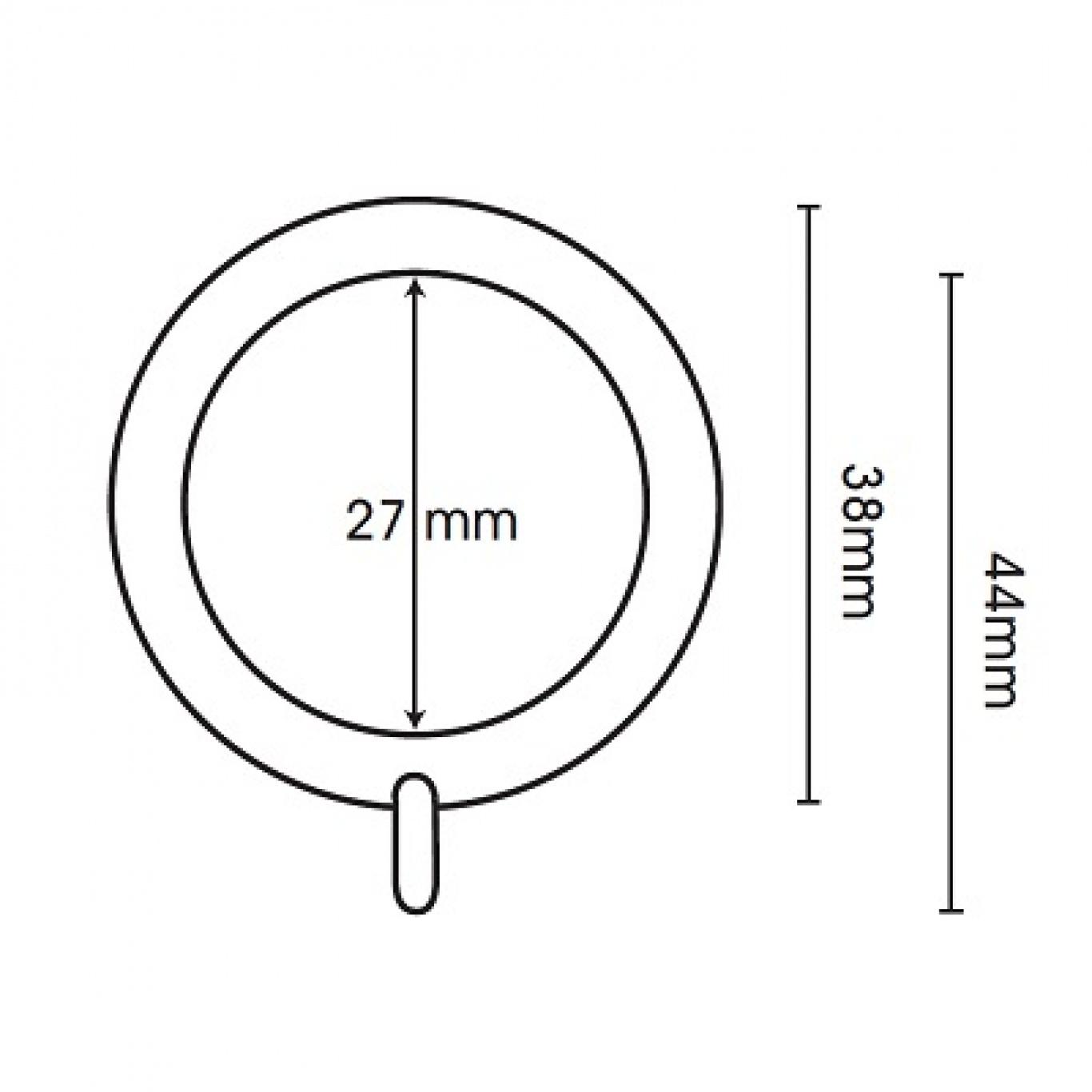 Swish Belgravia 19mm Graphite Metal Pole