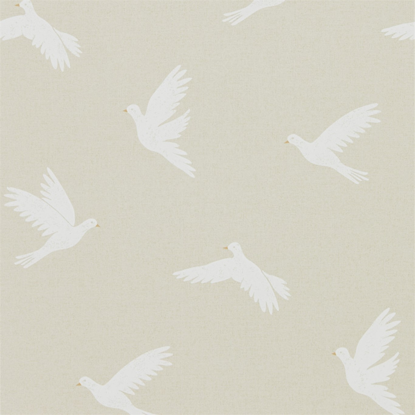 Image of Sanderson Home Paper Doves Linen Wallpaper 216378