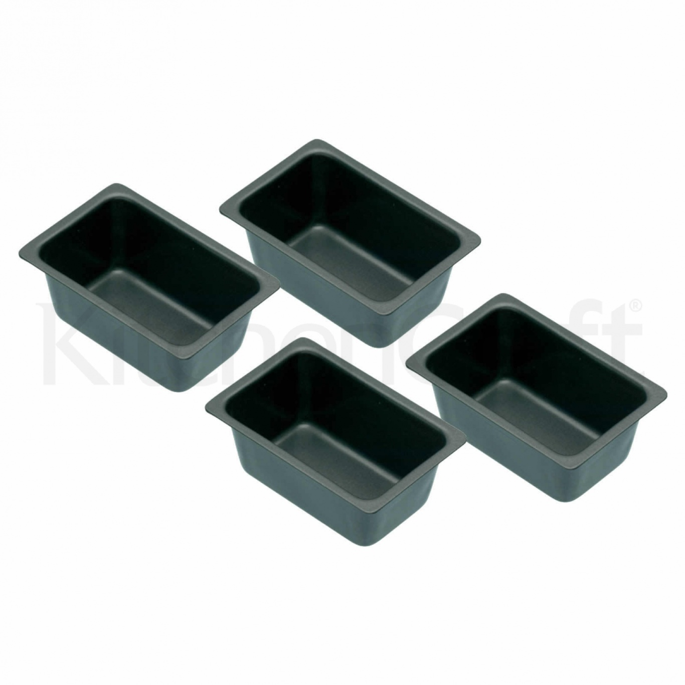 Image of Non Stick Mini Loaf Tins Pack of 4