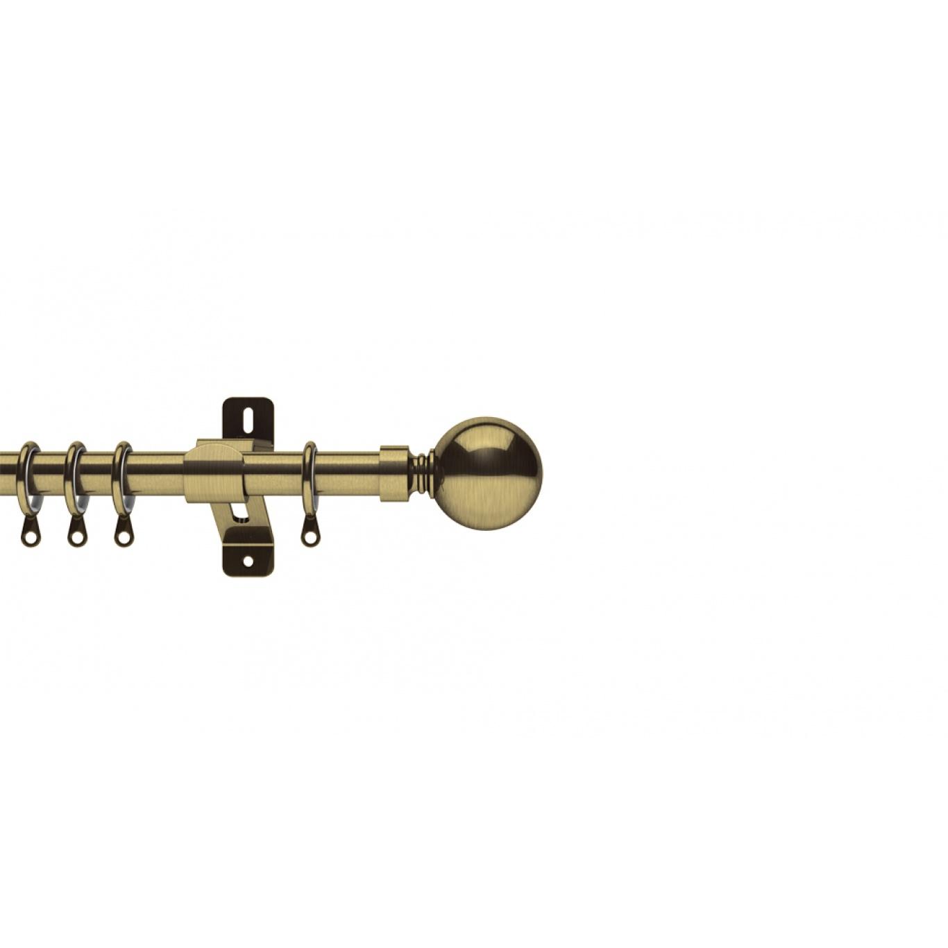 Image of Swish Belgravia 19mm Antique Brass Metal Pole