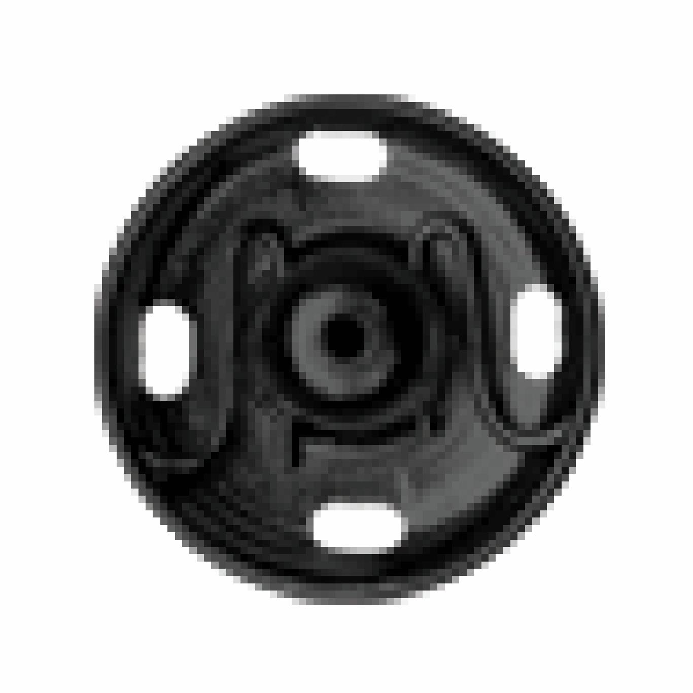 Black Sew-on Snap Fasteners | 6mm