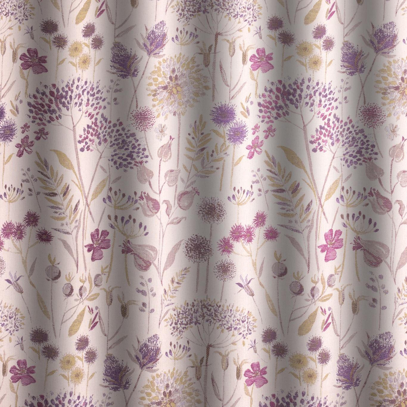 Voyage Flora Cream Heather Curtain Fabric