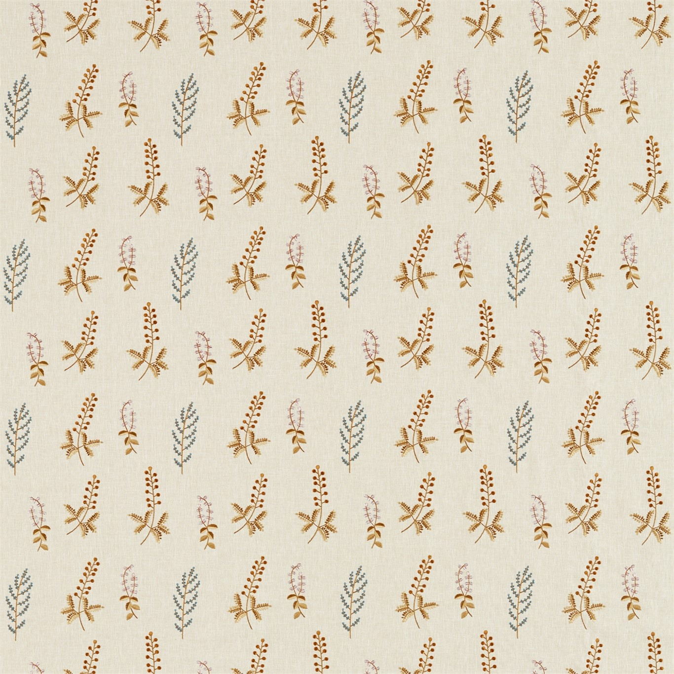 Image of Sanderson Home Bilberry Denim/Barley Fabric 236423