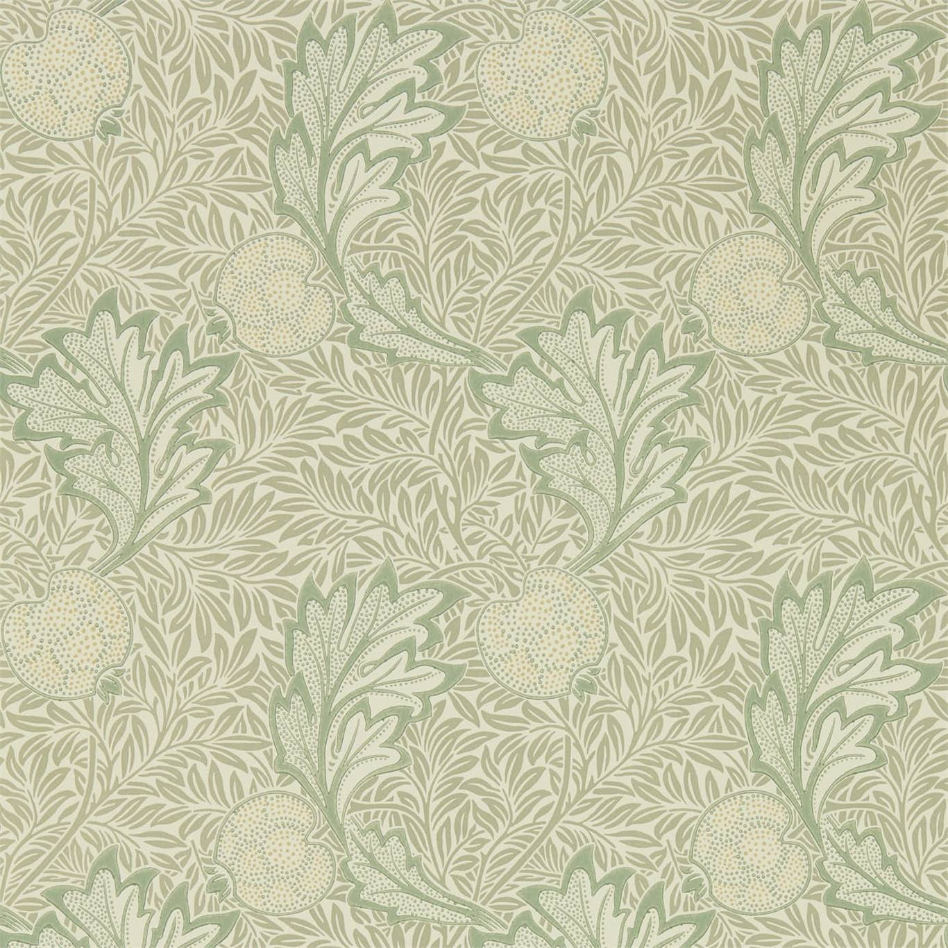 Image of Morris & Co Apple Bay Leaf Wallpaper 216689