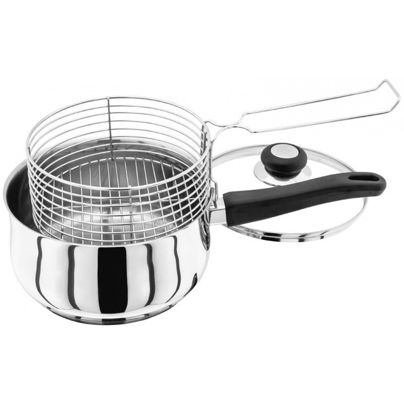 Image of Judge Vista 22cm Chip Pan with Basket