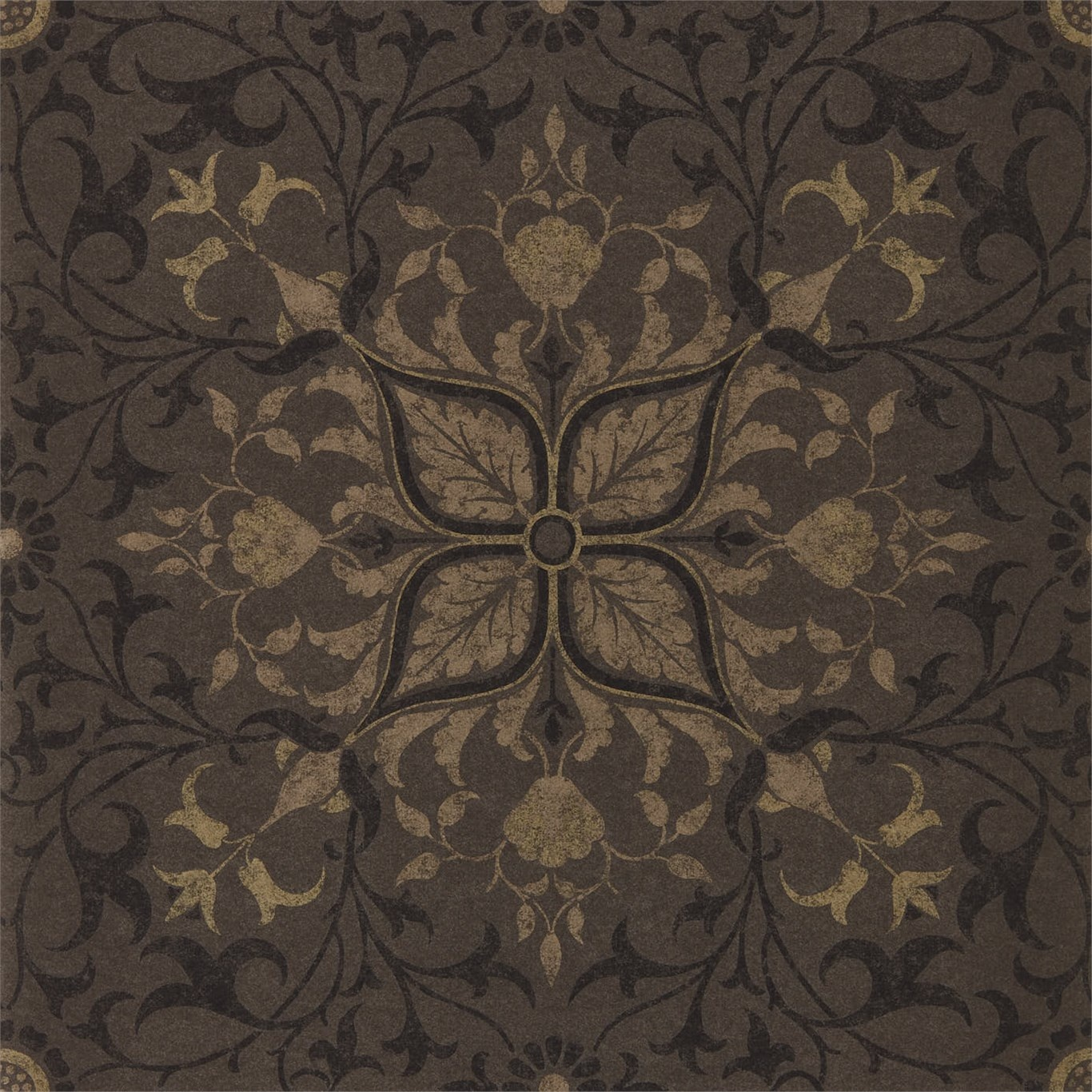 Image of Morris & Co Pure Net Ceiling Charcoal/Gold Wallpaper 216036