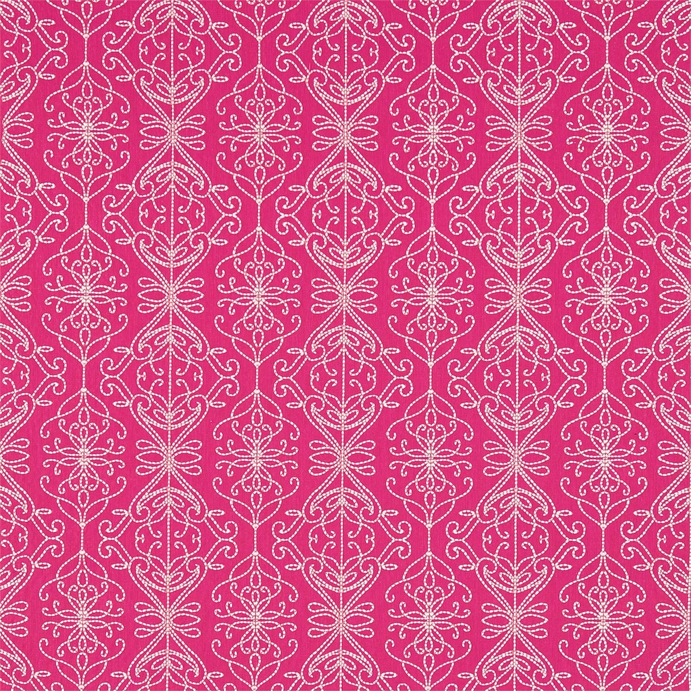 Image of Harlequin Java Flamingo/Peach Curtain Fabric 131518