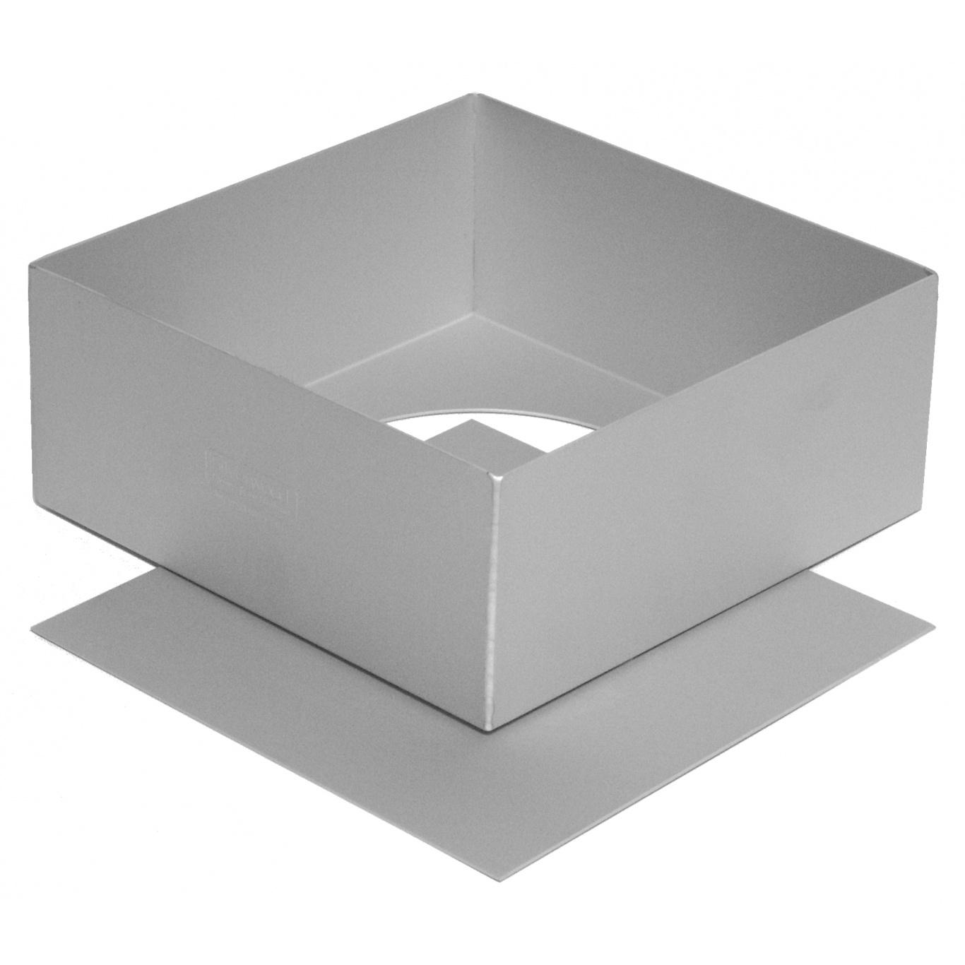 Image of Silverwood Square Cake Pan Loose Base 7ins/18cm