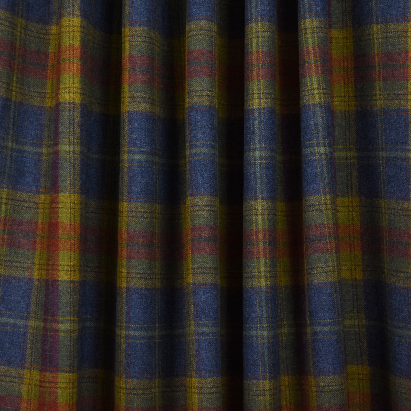 Chess Designs Balmoral Thistle Blue Fabric
