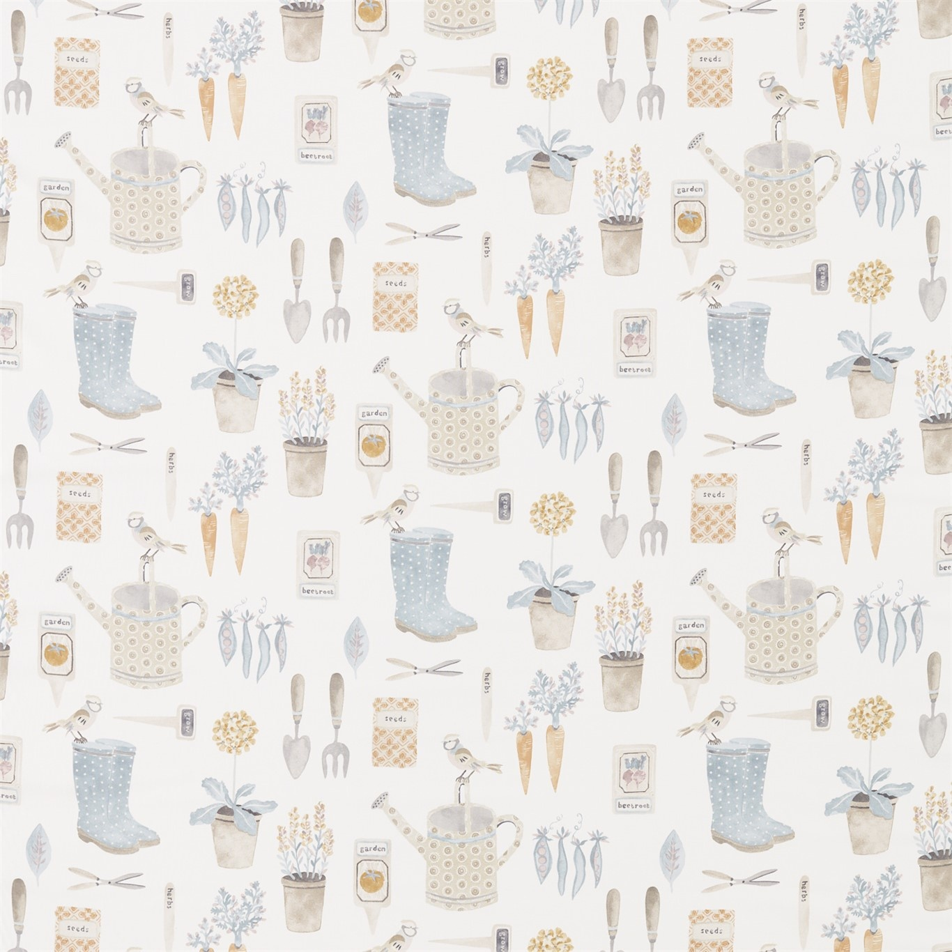 Image of Sanderson Home The Gardener Stone Fabric 226349