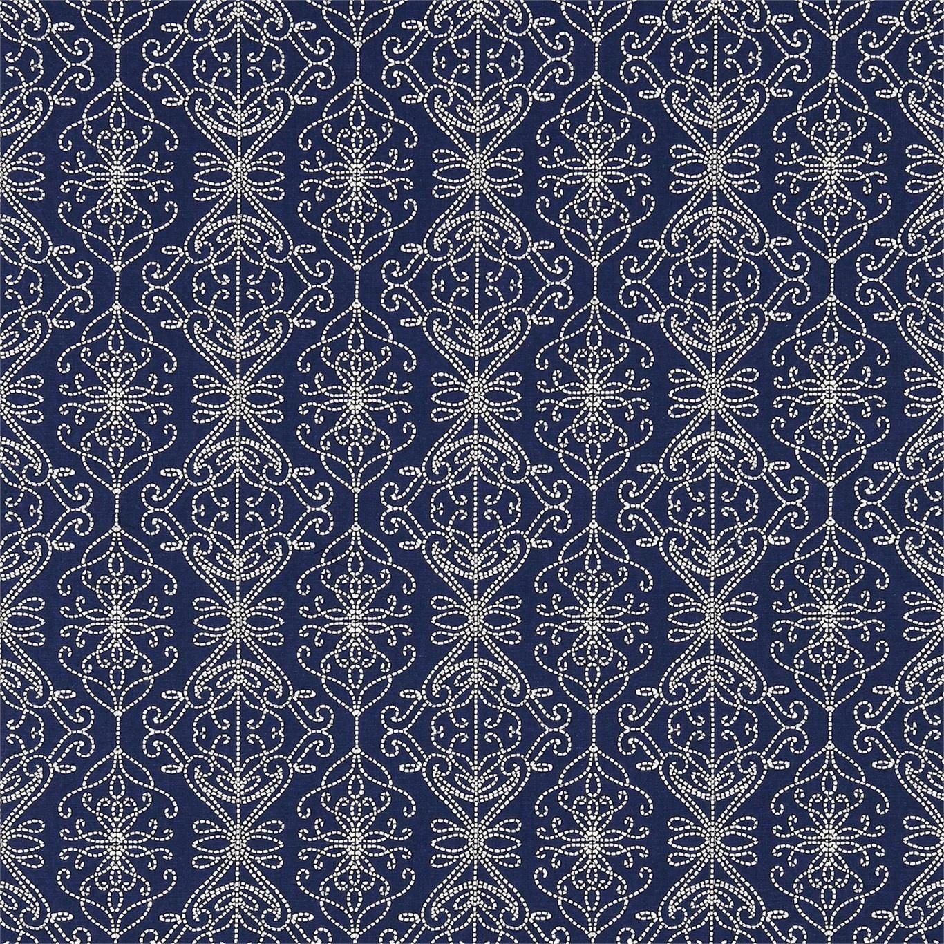 Image of Harlequin Java Indigo/Ink Curtain Fabric 131519
