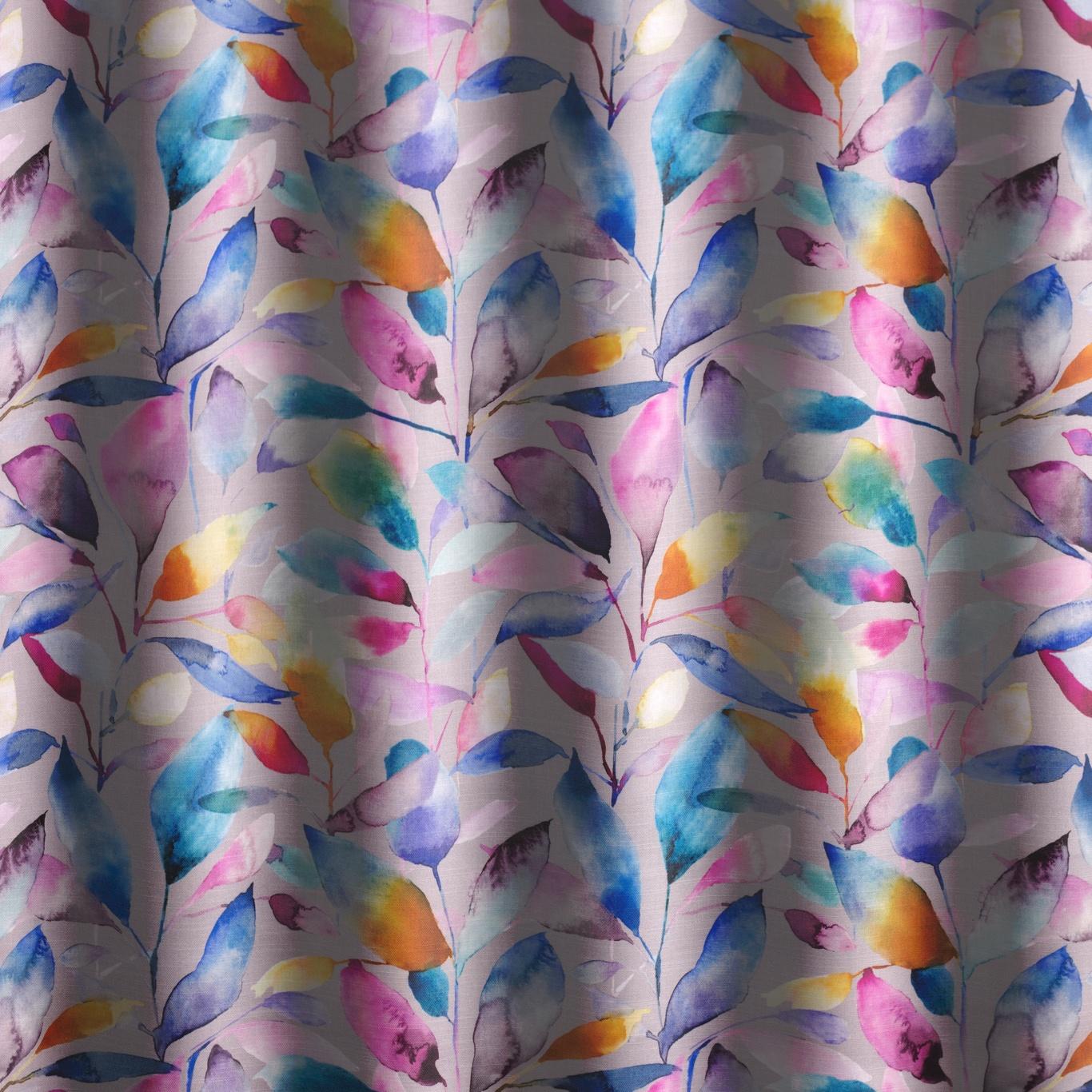 Voyage Brympton Lotus Stone Curtain Fabric