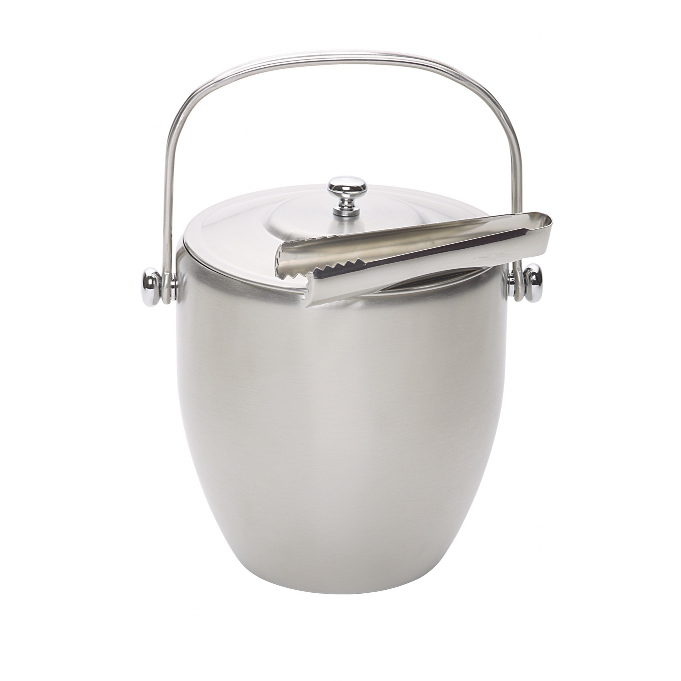 Image of Bar Craft Stainless Steel Ice Bucket withTongs