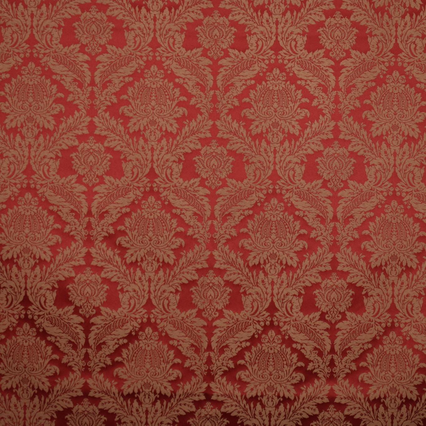 Image of Gordon Smith Damask Red Fabric