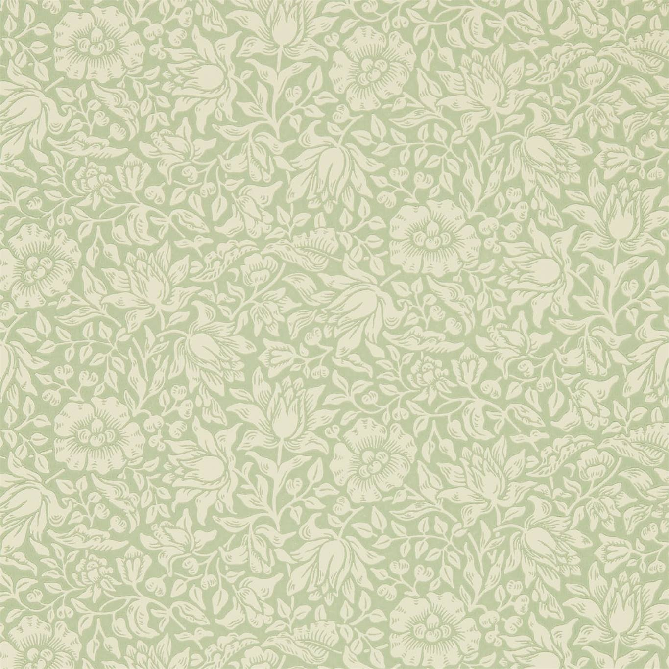 Morris Co Mallow Apple Green Wallpaper 216678
