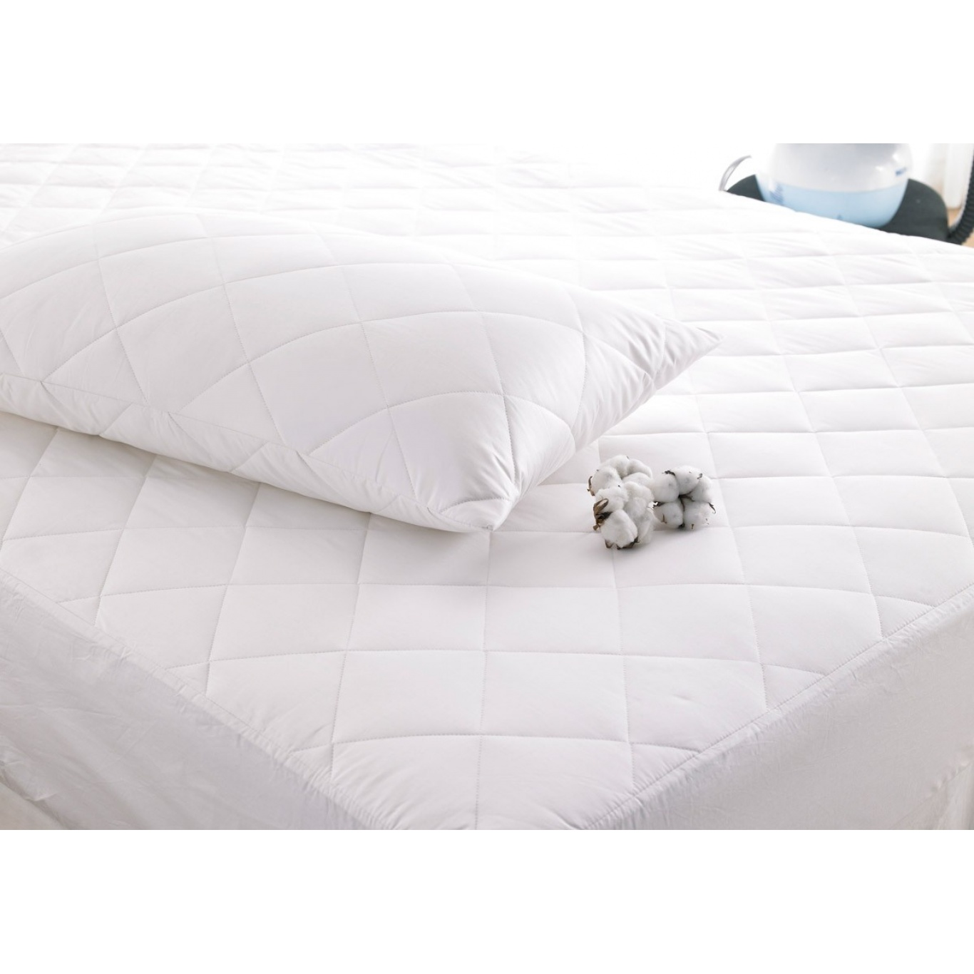 Deep Fill Cotton Single Mattress Protector