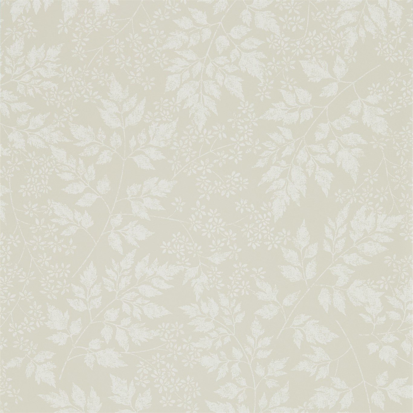 Image of Sanderson Home Spring Leaves Barley Wallpaper 216374