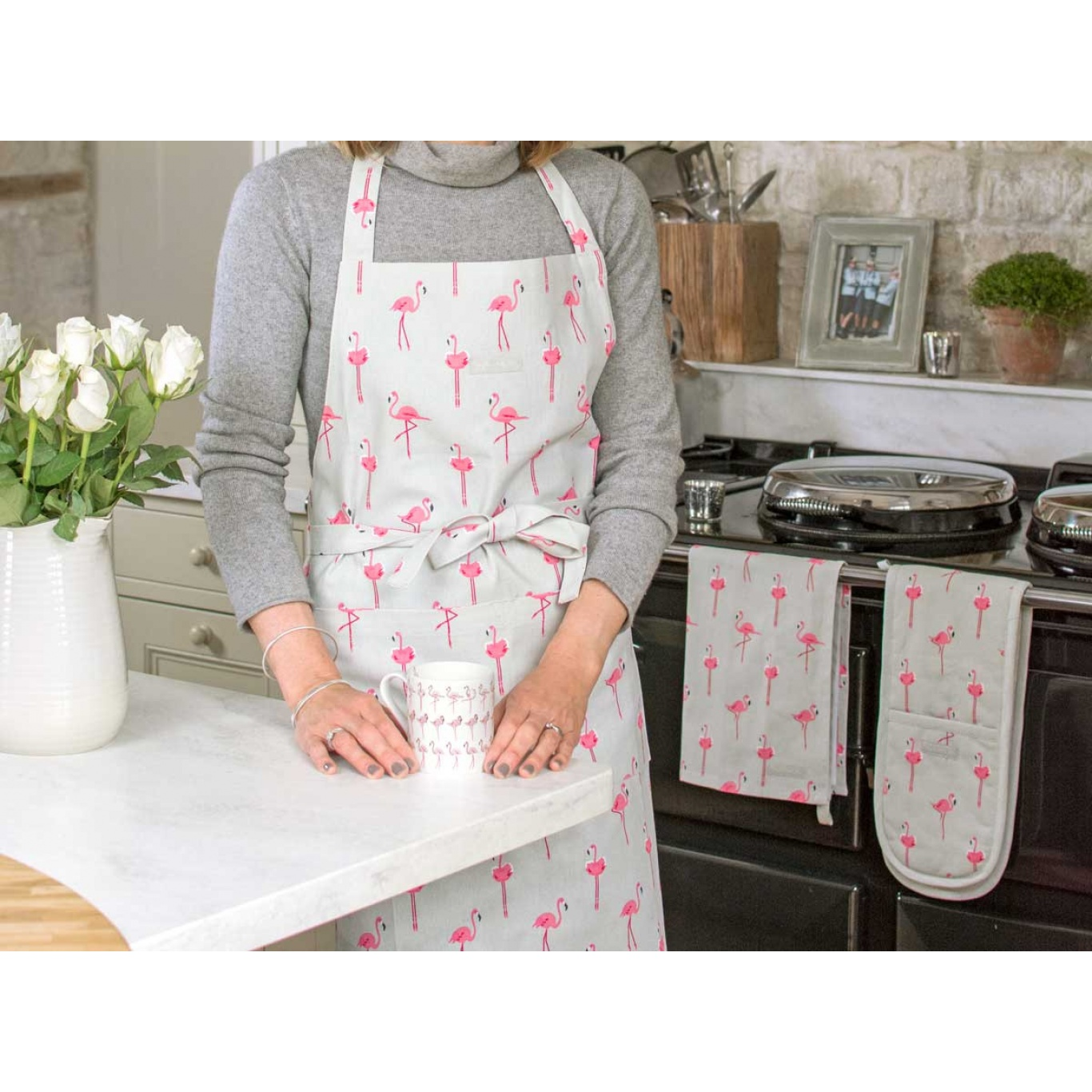 Sophie Allport Flamingos Tea Towel